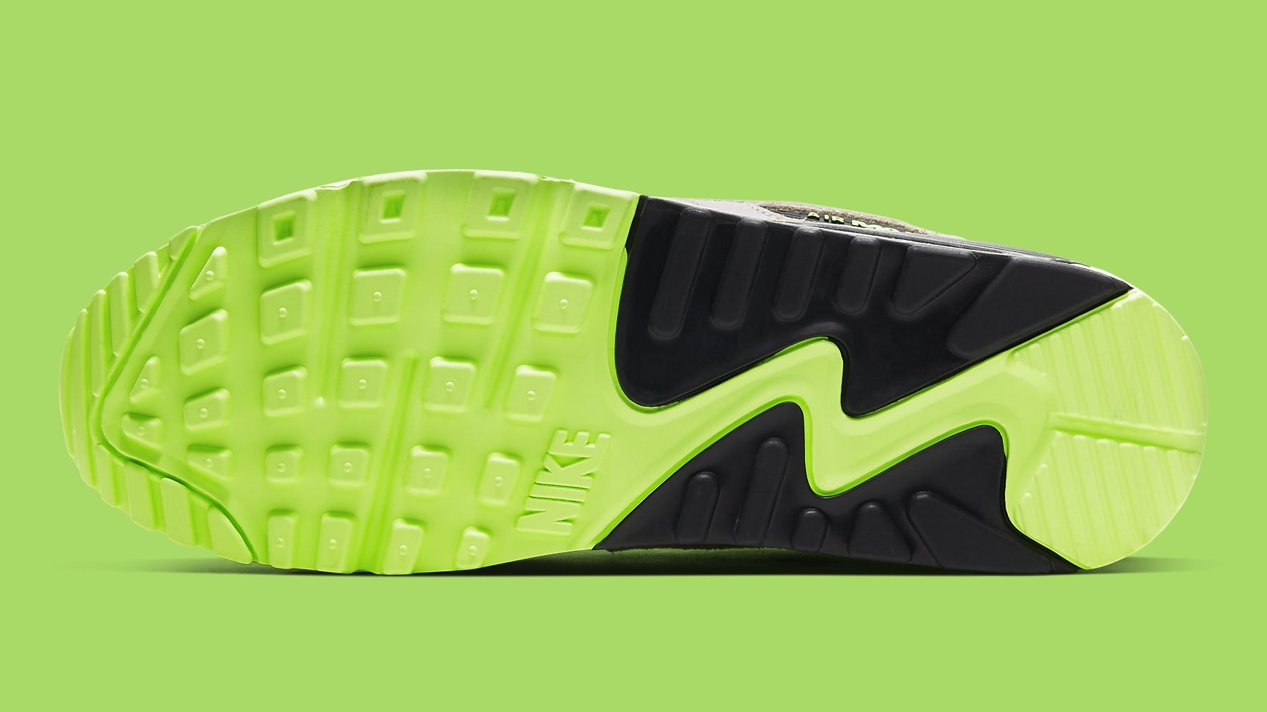 Nike Air Max 90 Volt Duck Camo Ghost Green Release Date CW4039-300 Sole