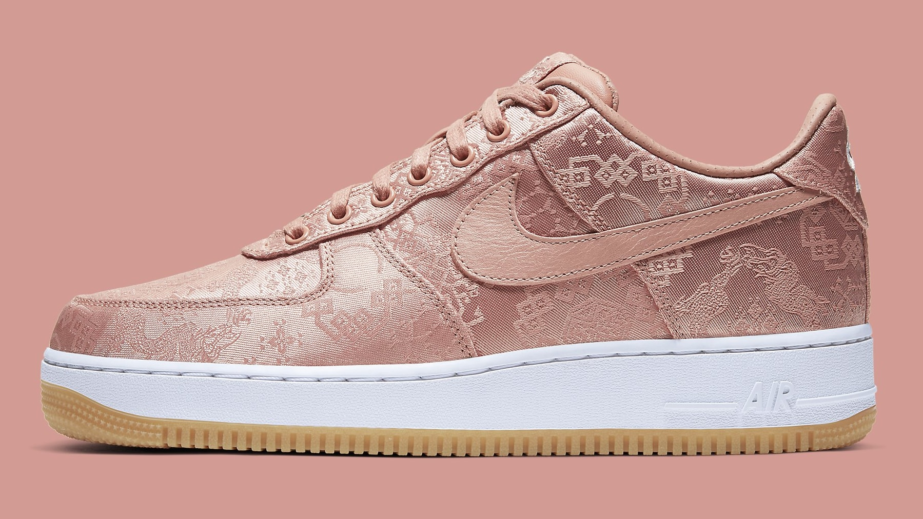 Clot x Nike Air Force 1 Rose Gold Release Date CJ5290-600 Profile