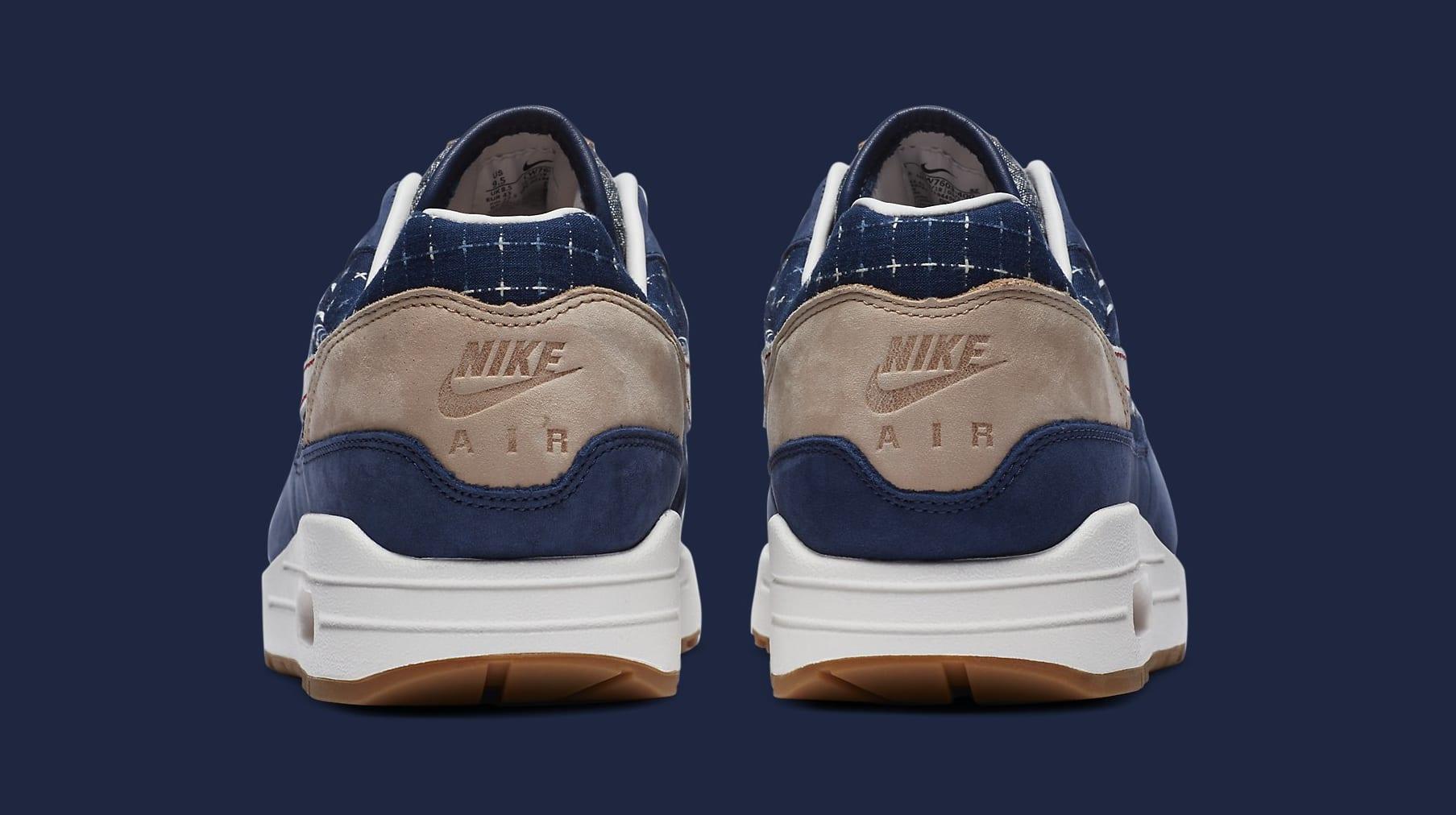 Denham x Nike Air Max 1 CW7603-400 Heel