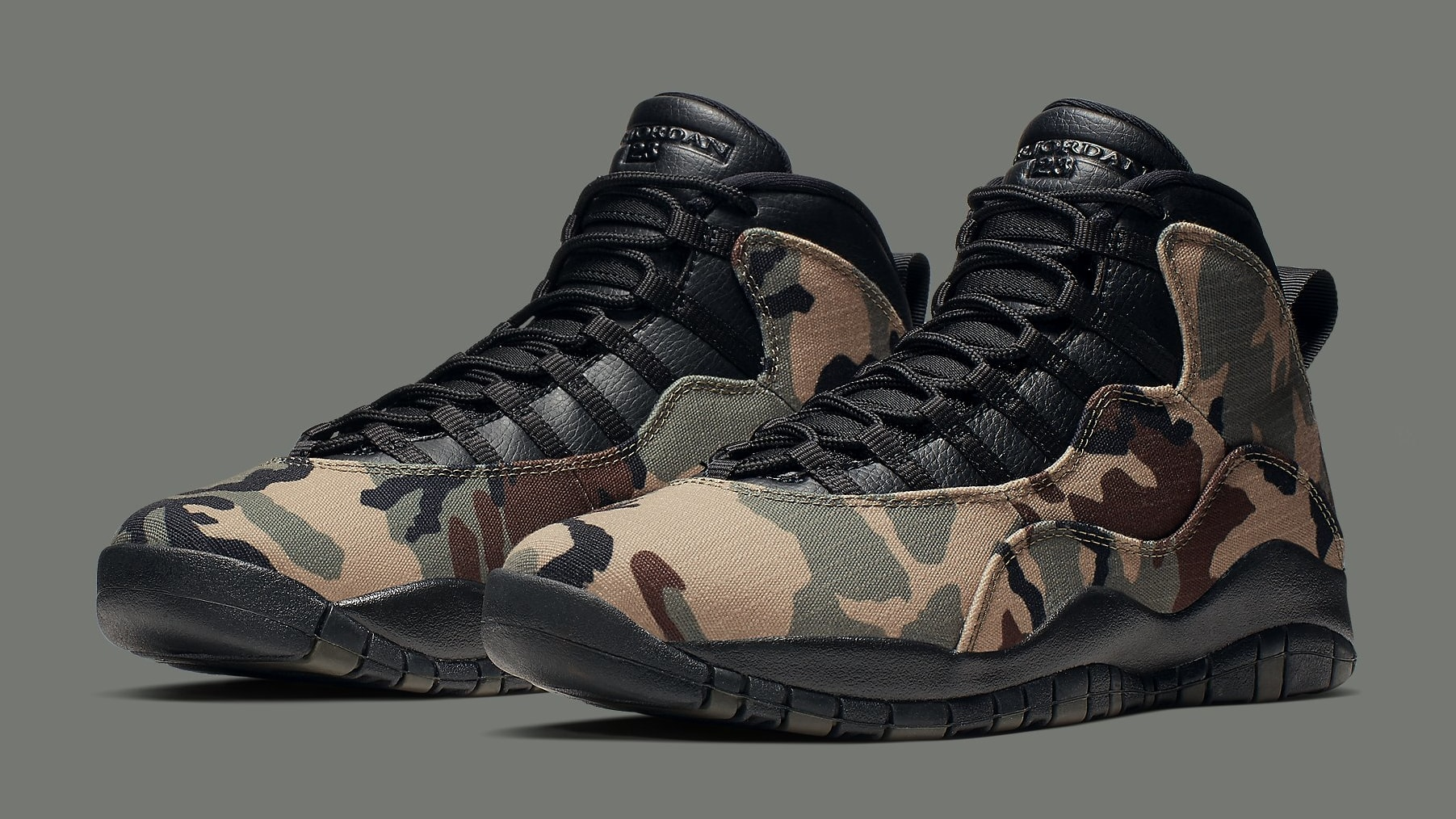 Detailed Look at Both 'Camo' Air Jordan 10s