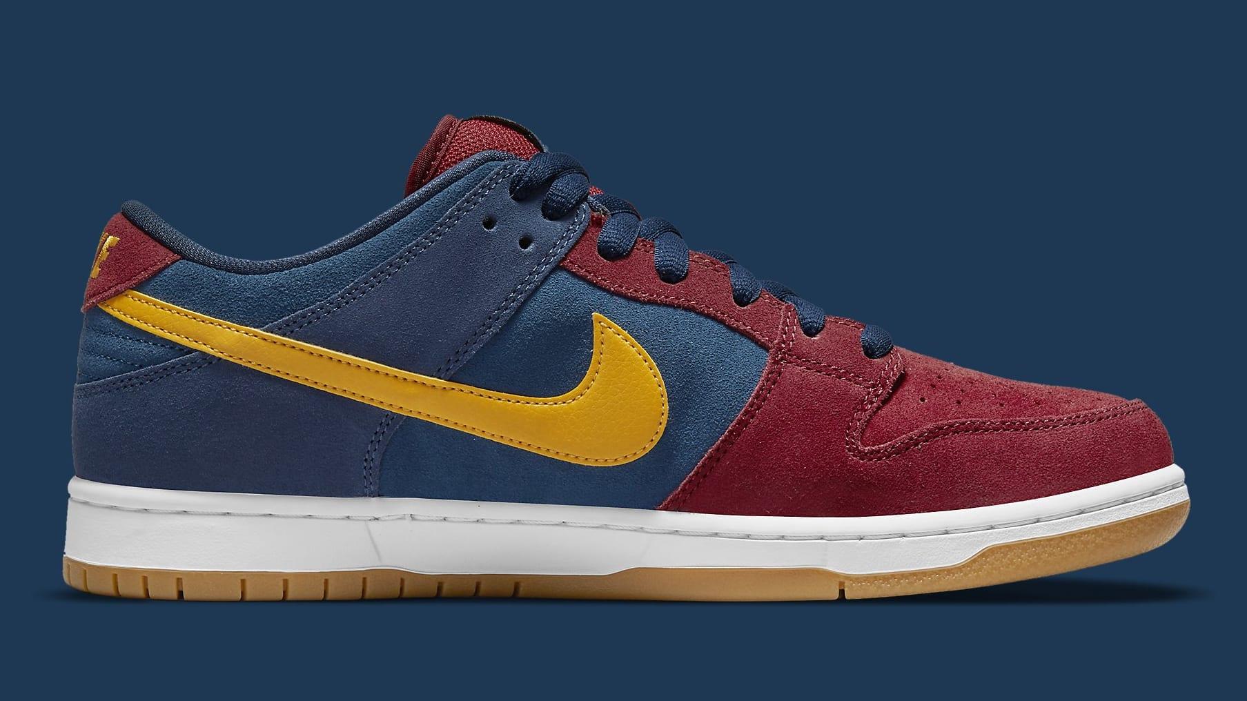 Nike SB Dunk Low Barcelona Release Date DJ0606-400 Medial