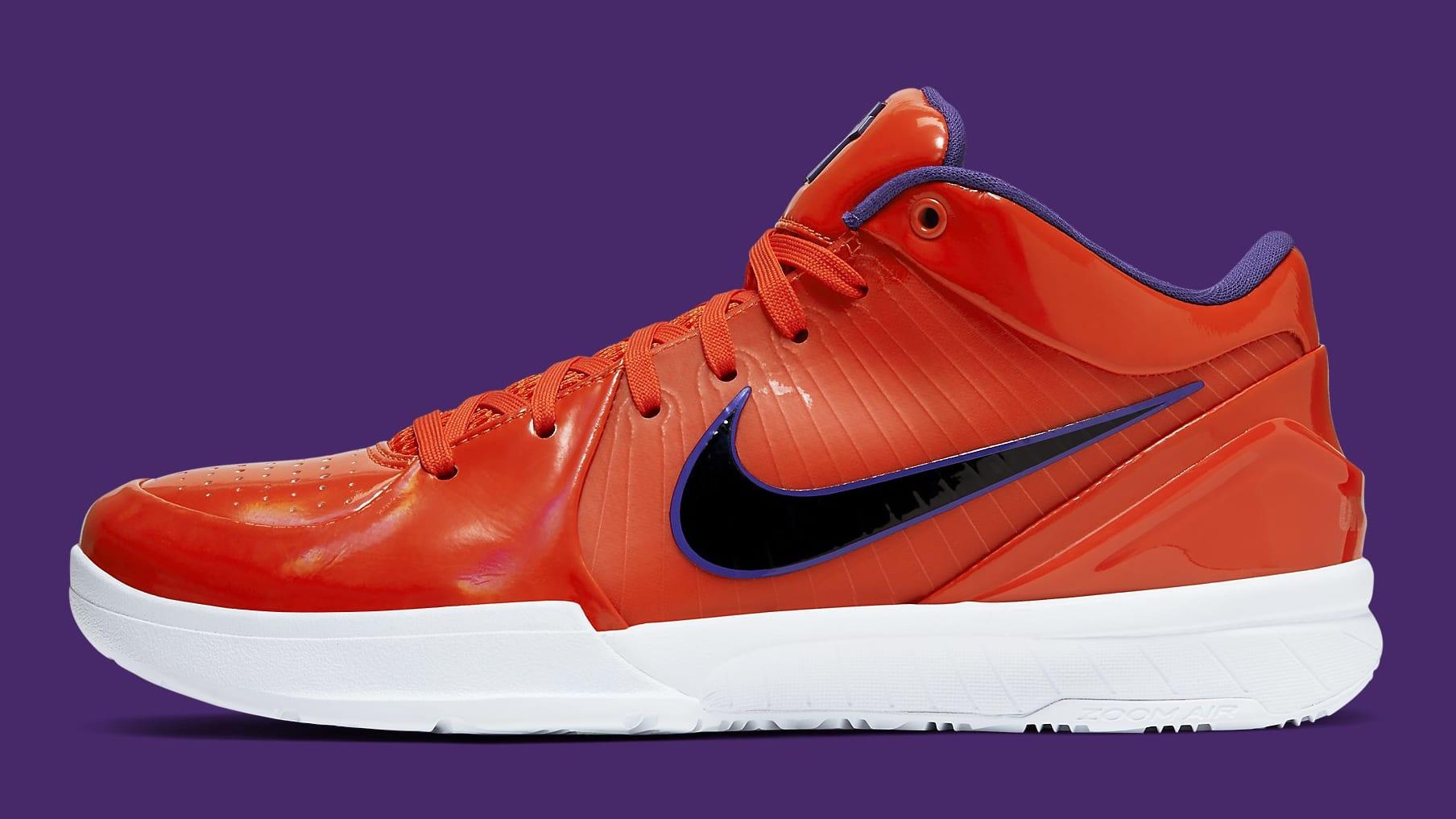 UNDFTD x Nike Kobe 4 Protro Orange Release Date CQ33869-800 Profile