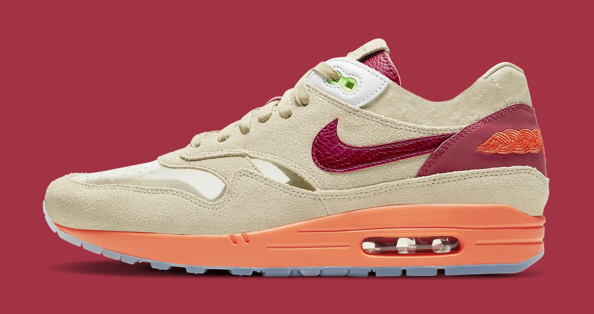 Clot x Nike Air Max 1 'Kiss of Death' 2021 DD1870-100 Lateral
