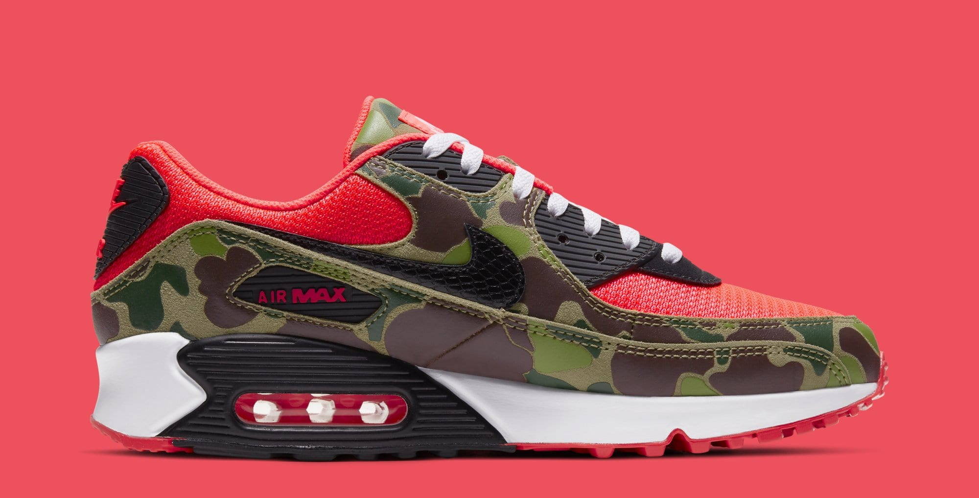 Nike Air Max 90 'Infrared Duck Camo' CW6024-600 (Medial)