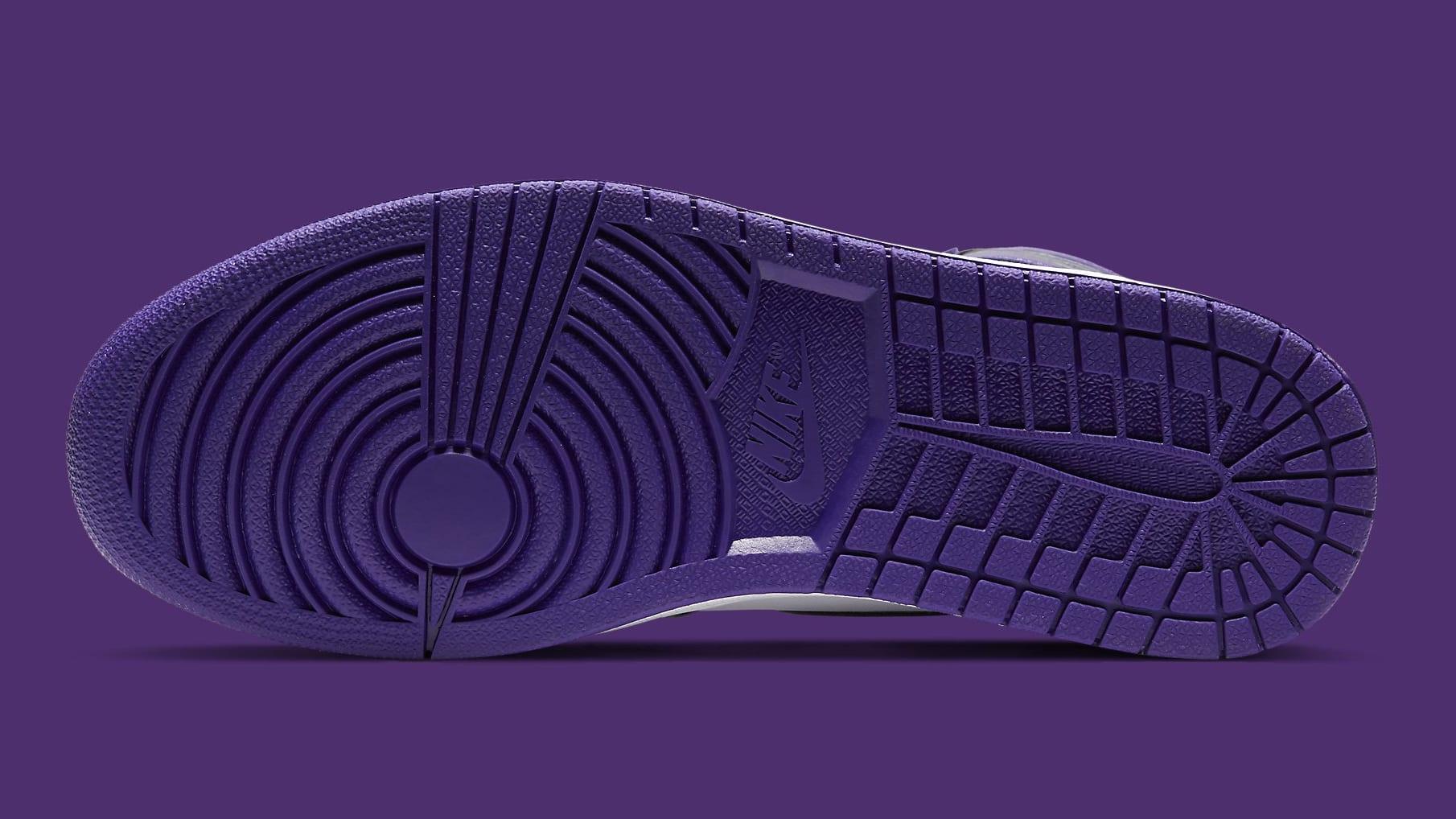 Air Jordan 1 Court Purple Release Date 555088-500 Sole