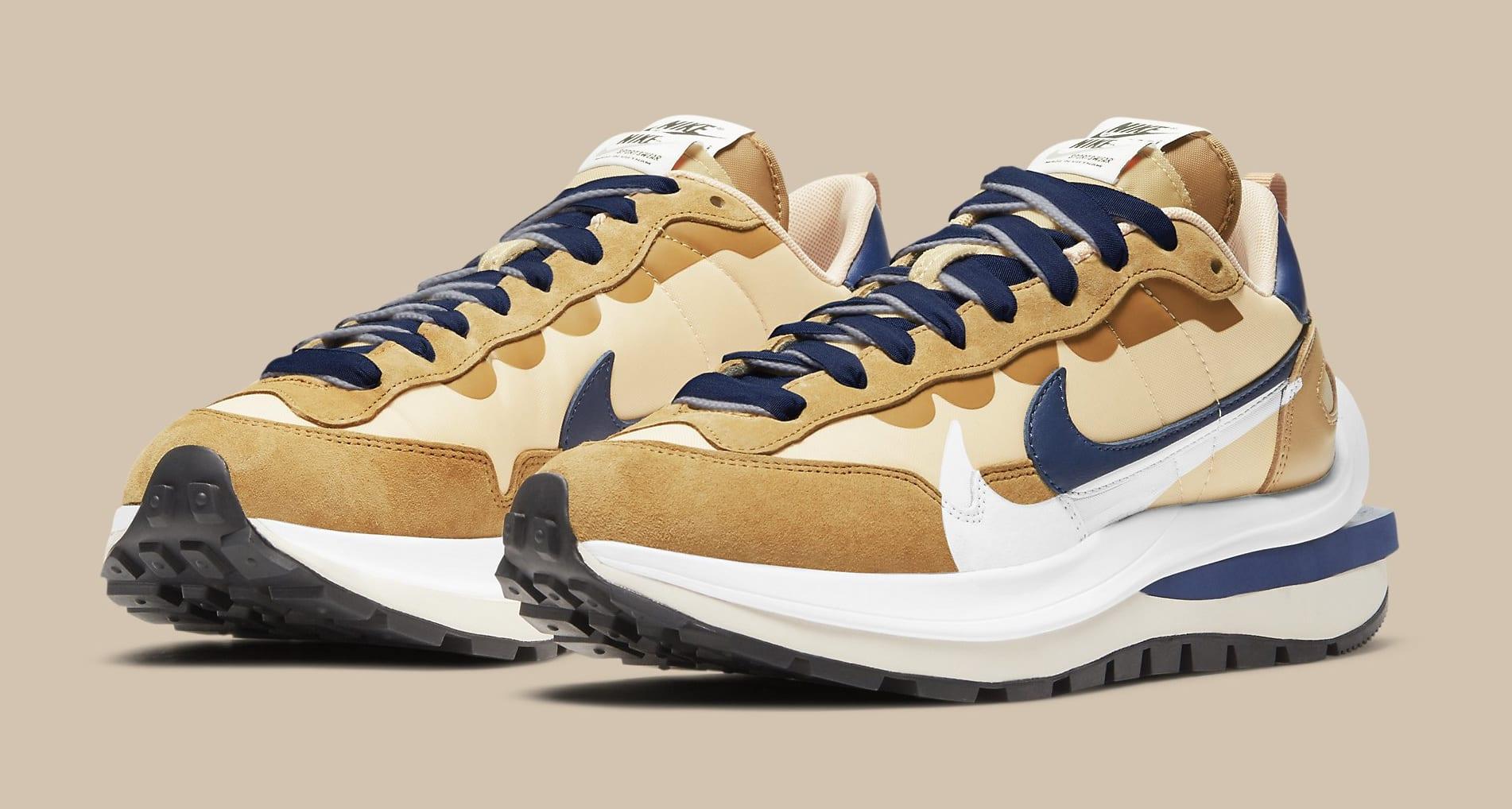 Sacai x Nike VaporWaffle 'Sesame/Blue Void' DD1875-200 Pair