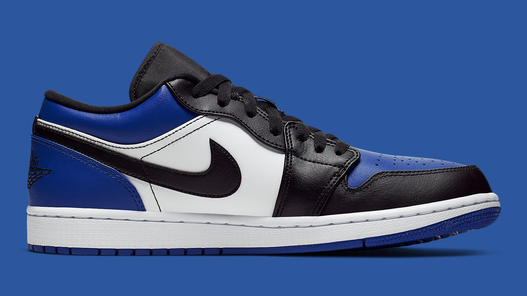 Air Jordan 1 Low Royal Toe Release Date CQ9446-400 Medial