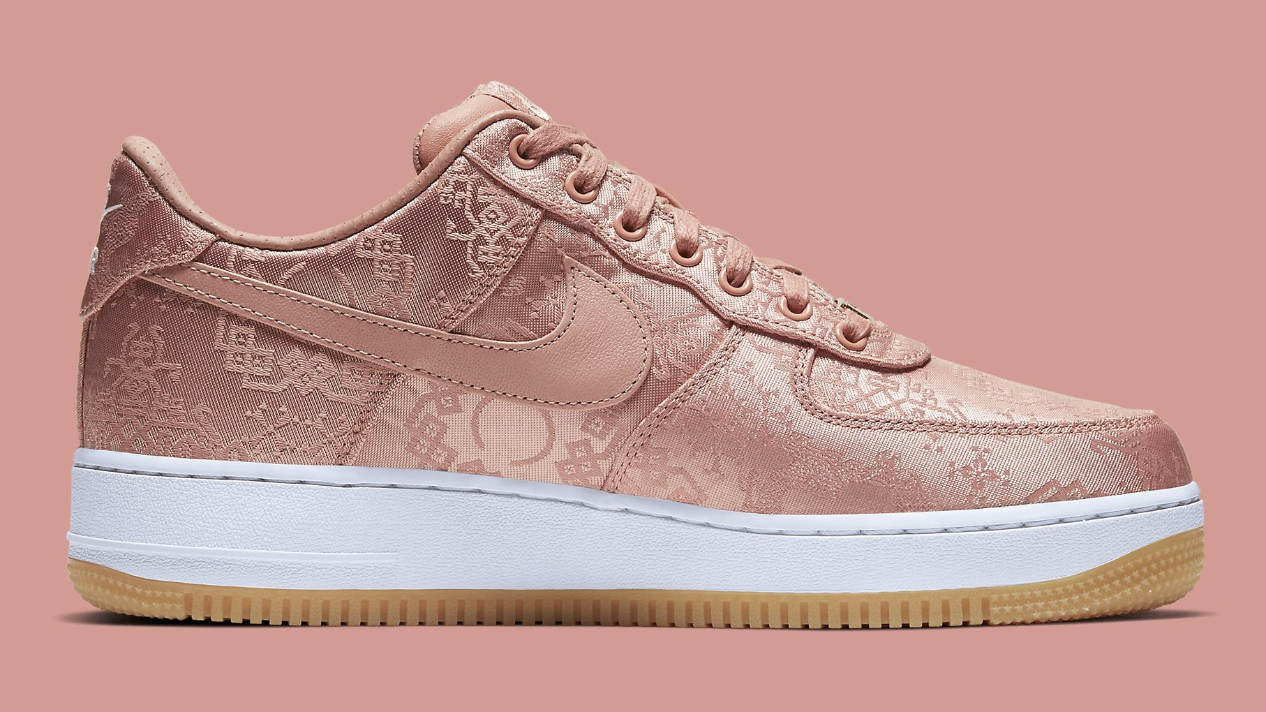 Clot x Nike Air Force 1 Rose Gold Release Date CJ5290-600 Medial