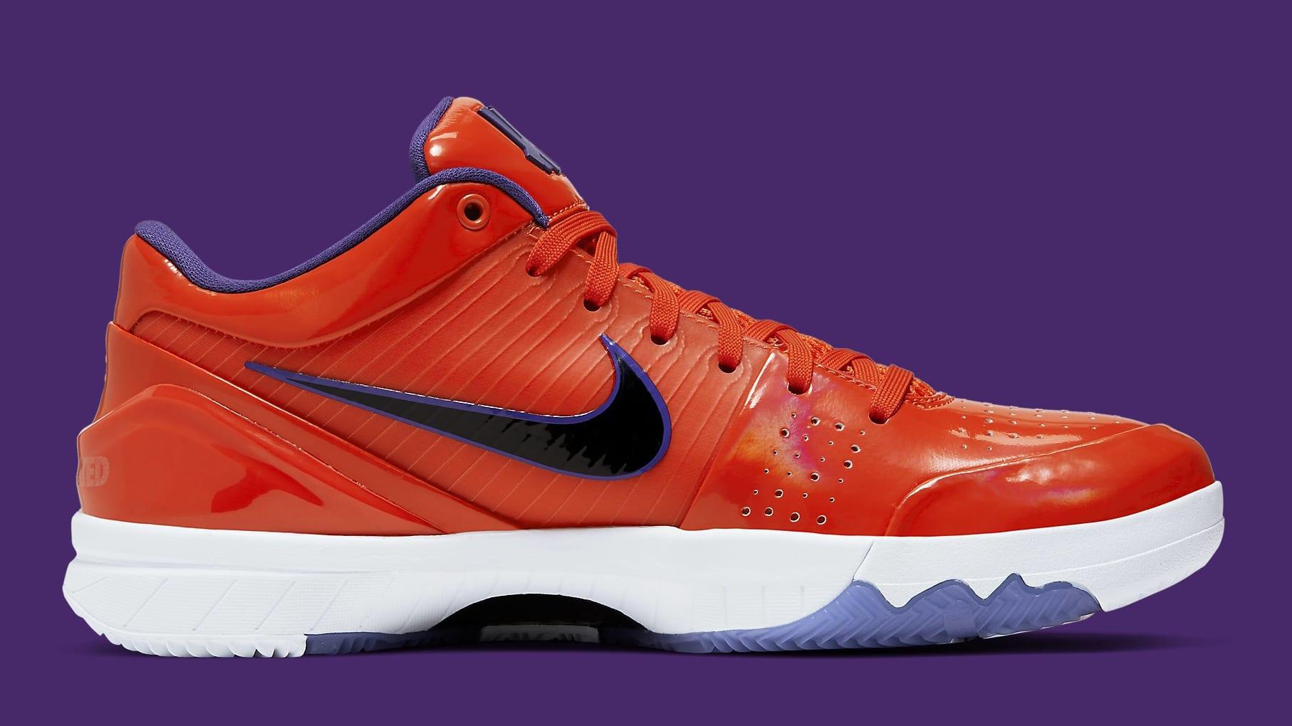 UNDFTD x Nike Kobe 4 Protro Orange Release Date CQ33869-800 Medial