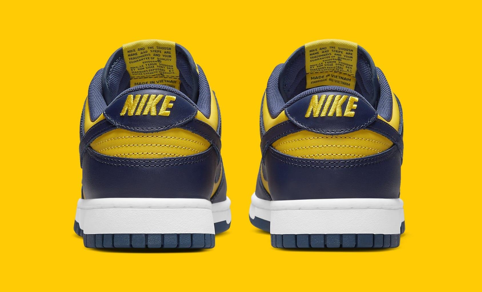 Nike Dunk Low 'Michigan' 2021 DD1391-700 Heel