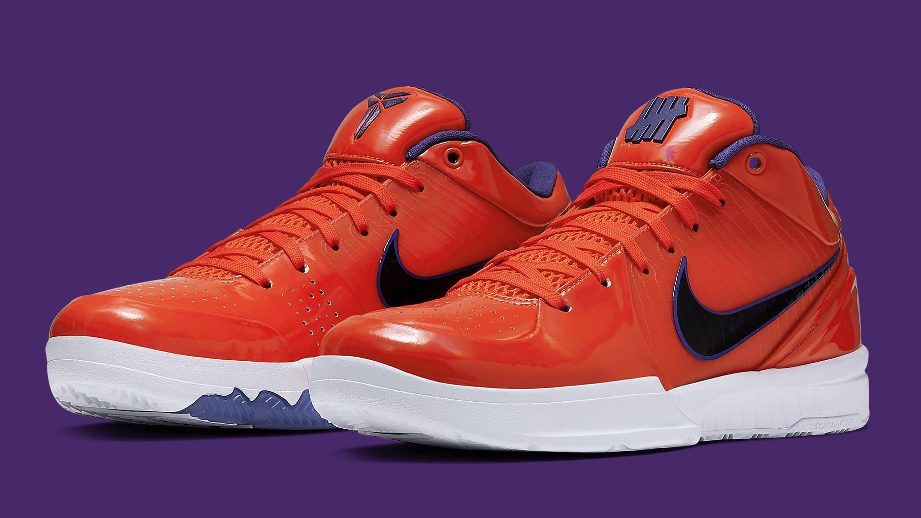 UNDFTD x Nike Kobe 4 Protro Orange Release Date CQ33869-800 Pair