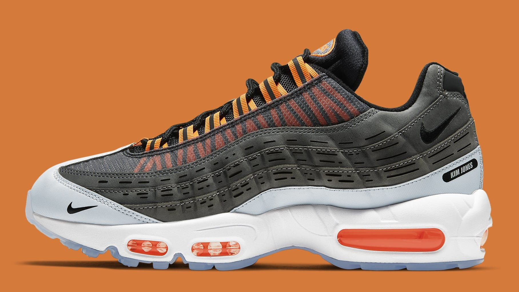 Kim Jones x Nike Air Max 95 Orange Release Date DD1871-001 Profile