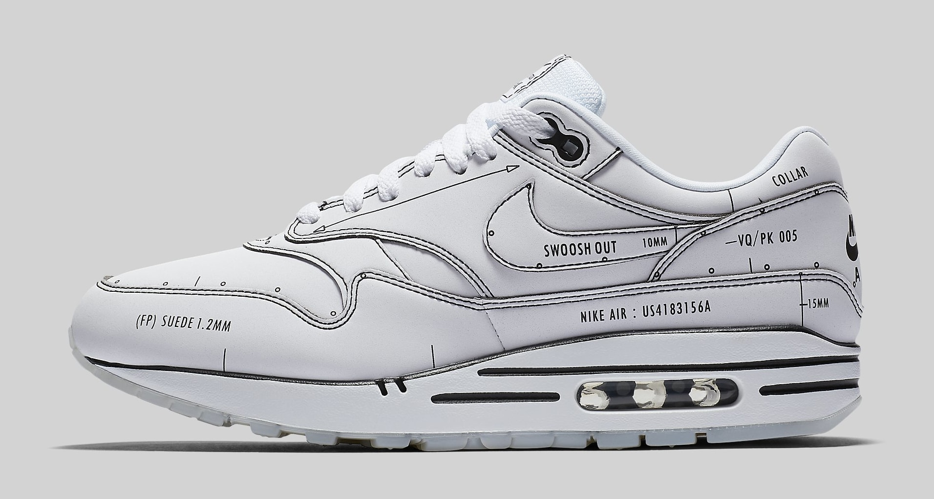 Nike Air Max 1 'Schematic' CJ4286-100 Lateral