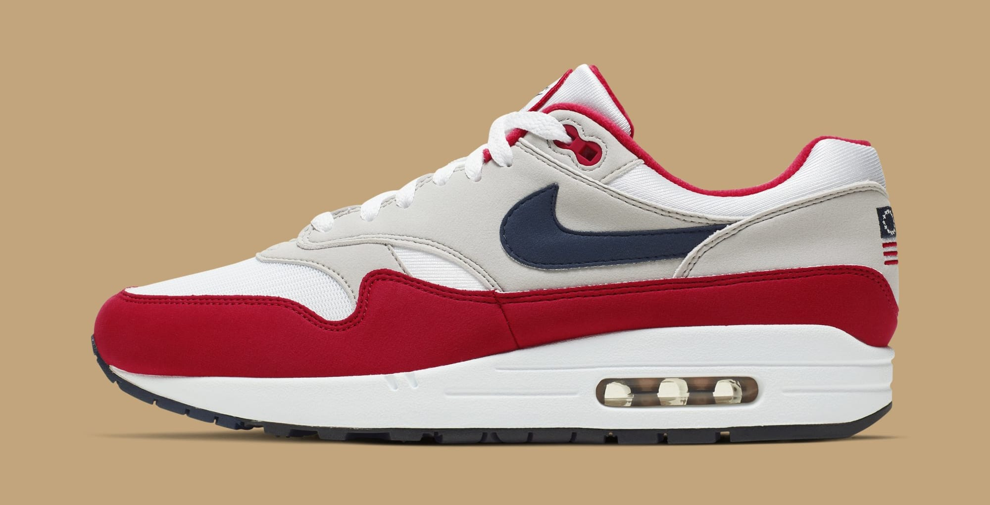 Nike Air Max 1 'Fourth of July' CJ4283-100 (Lateral)