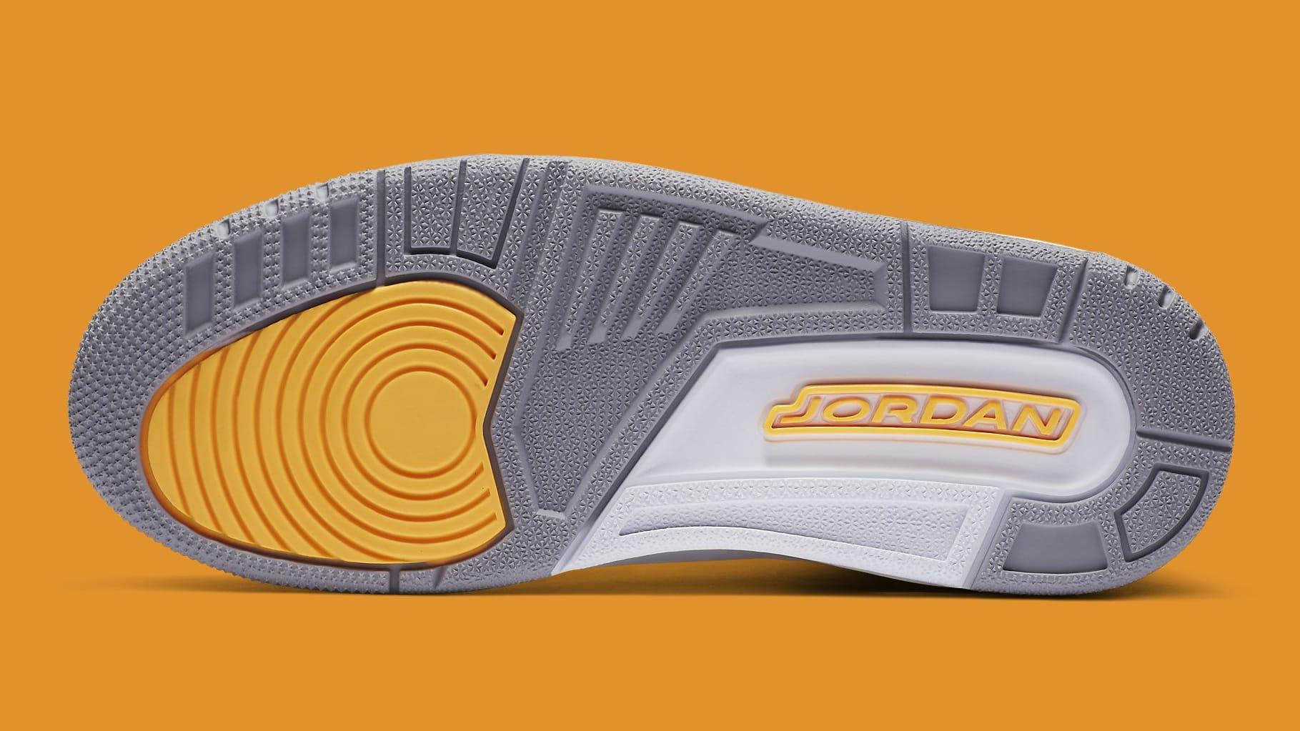Air Jordan 3 III Laser Orange Release Date CK9246-108 Sole