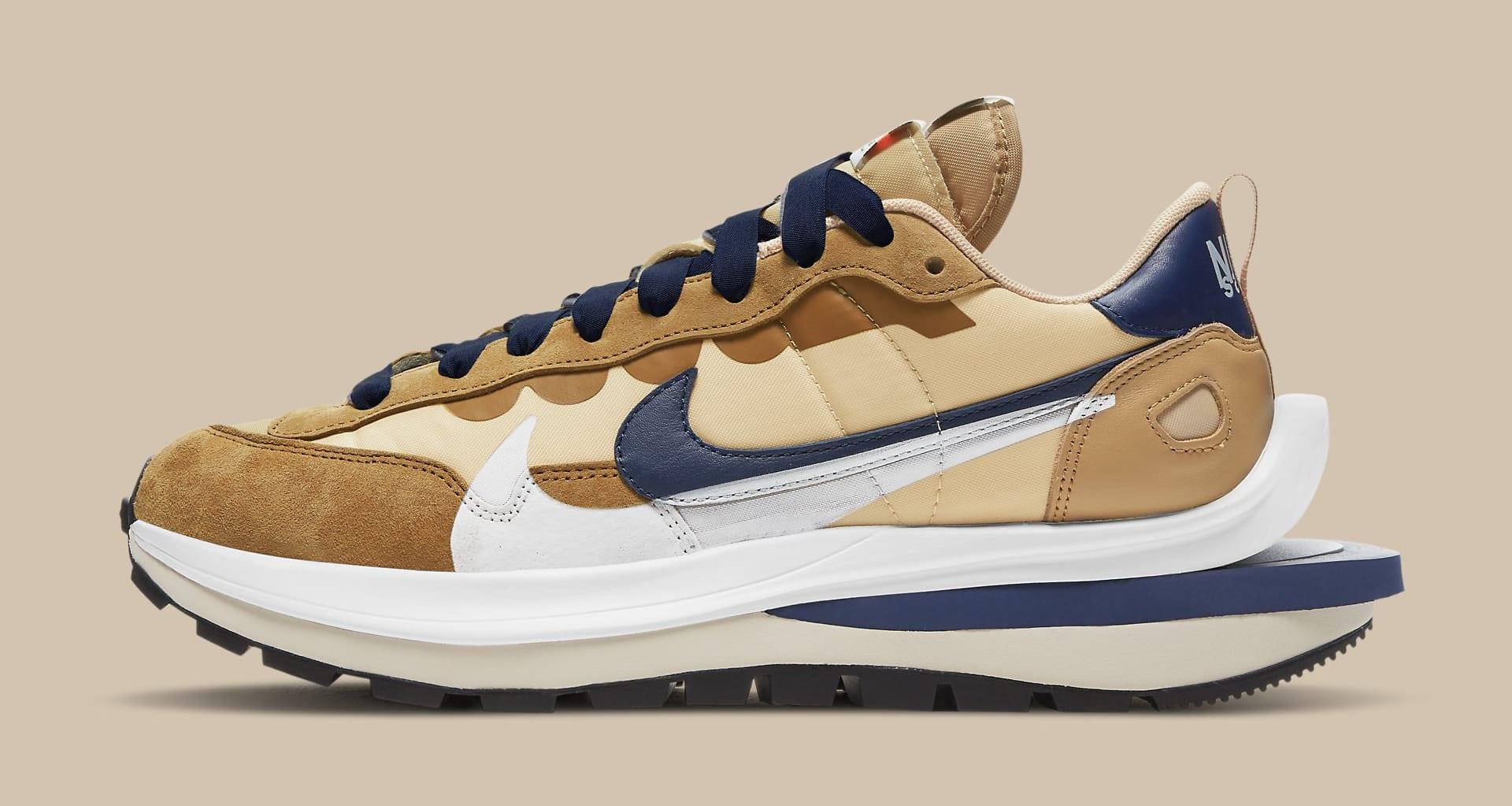 Sacai x Nike VaporWaffle 'Sesame/Blue Void' DD1875-200 Lateral
