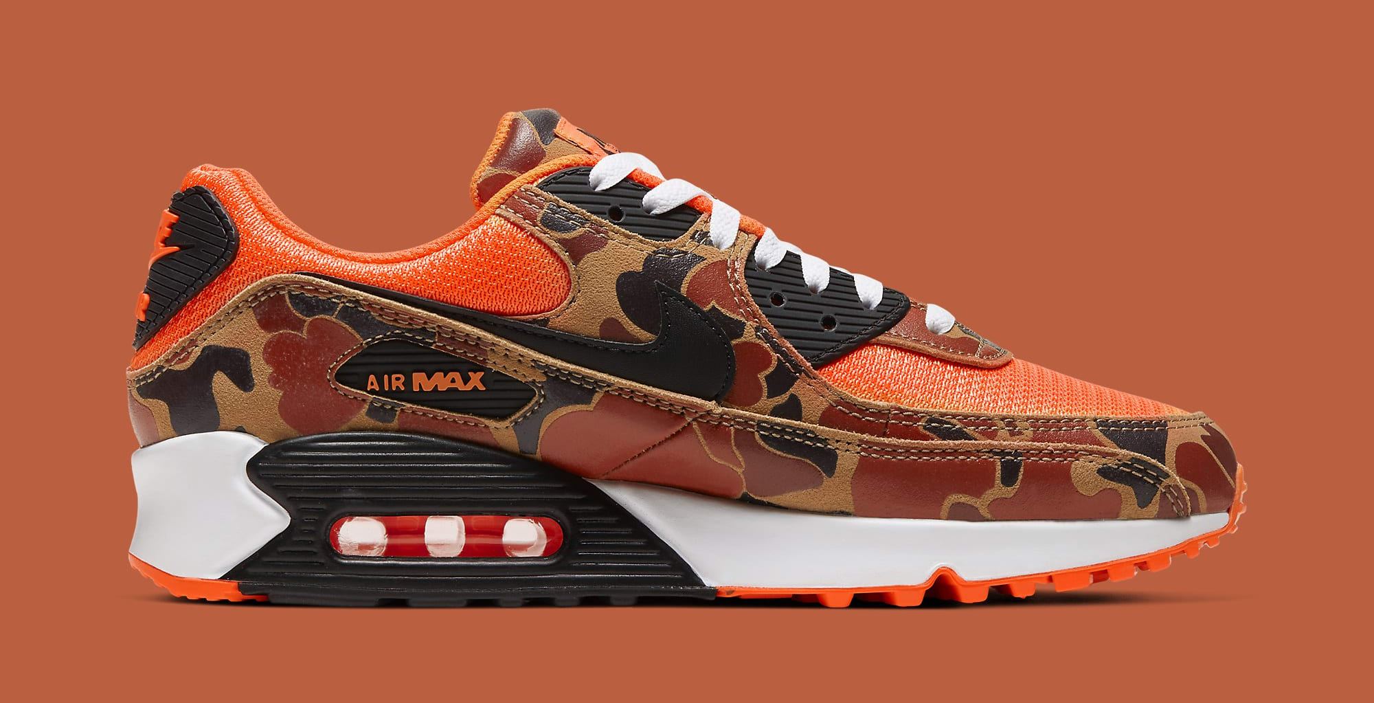 Nike Air Max 90 'Orange Duck Camo' Release Date CW4039-800 | Sole ...