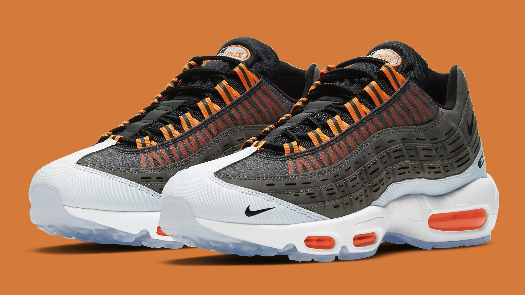 Kim Jones x Nike Air Max 95 Orange Release Date DD1871-001 Pair