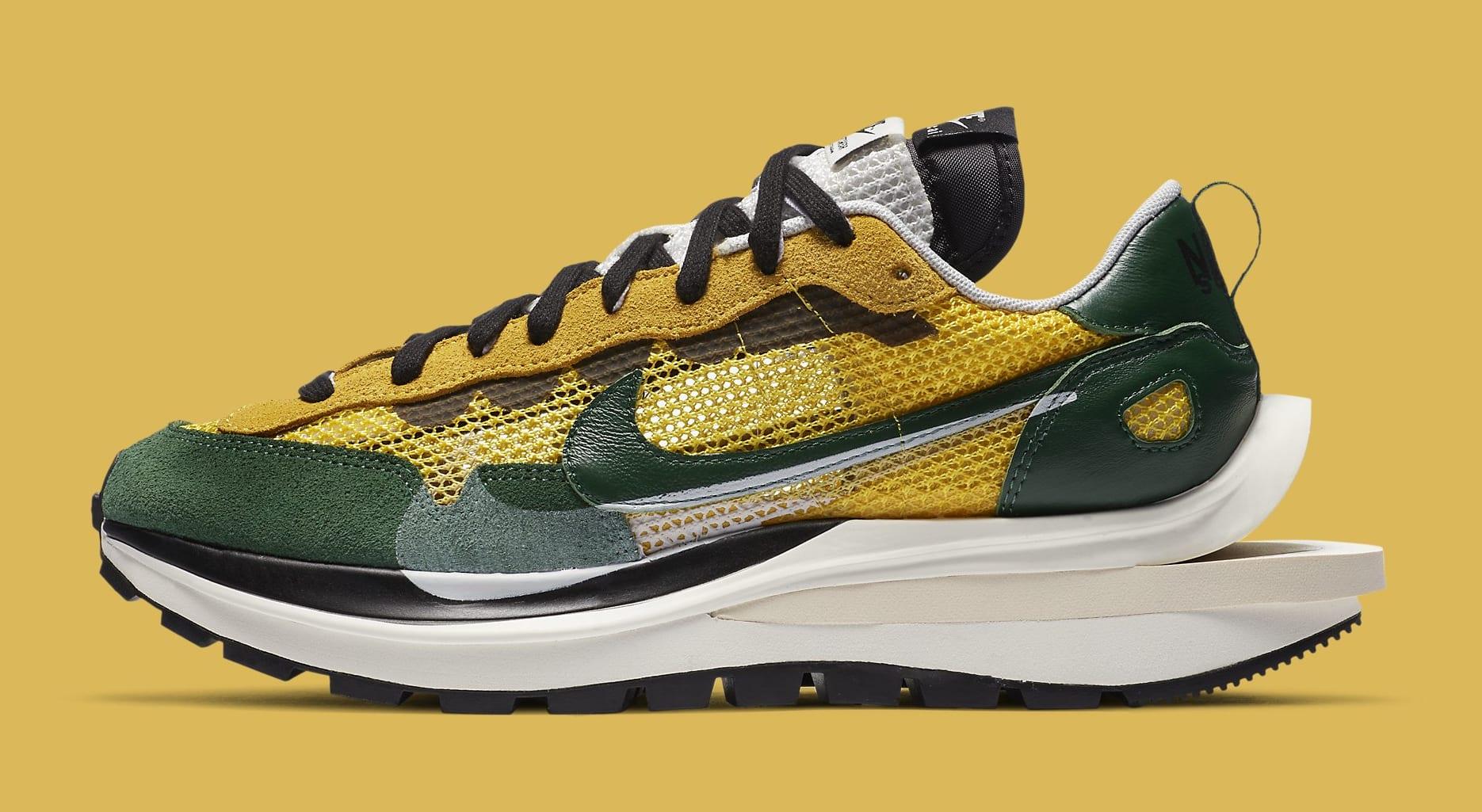 Sacai x Nike VaporWaffle 'Tour Yellow' CV1363-700 Lateral