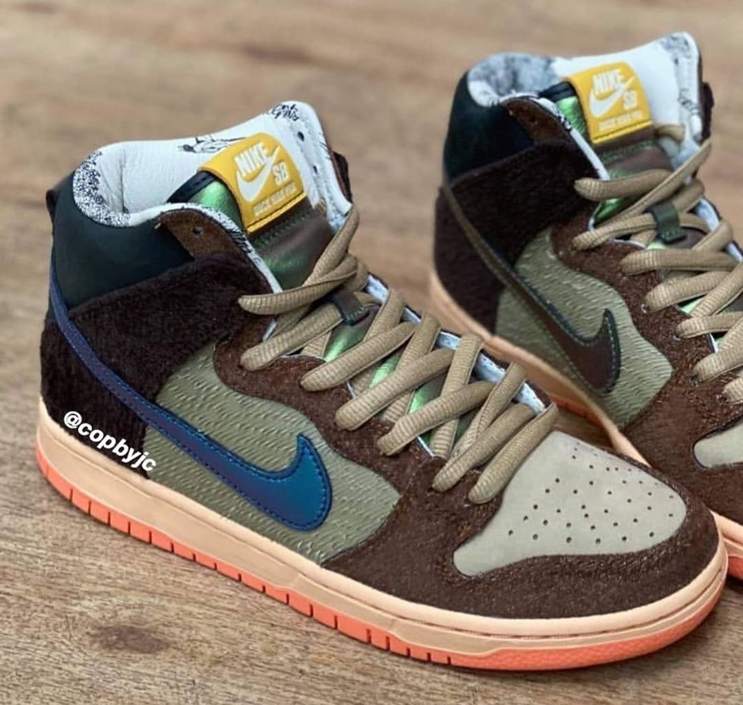 Concepts x Nike SB Dunk High 'Duck' Side