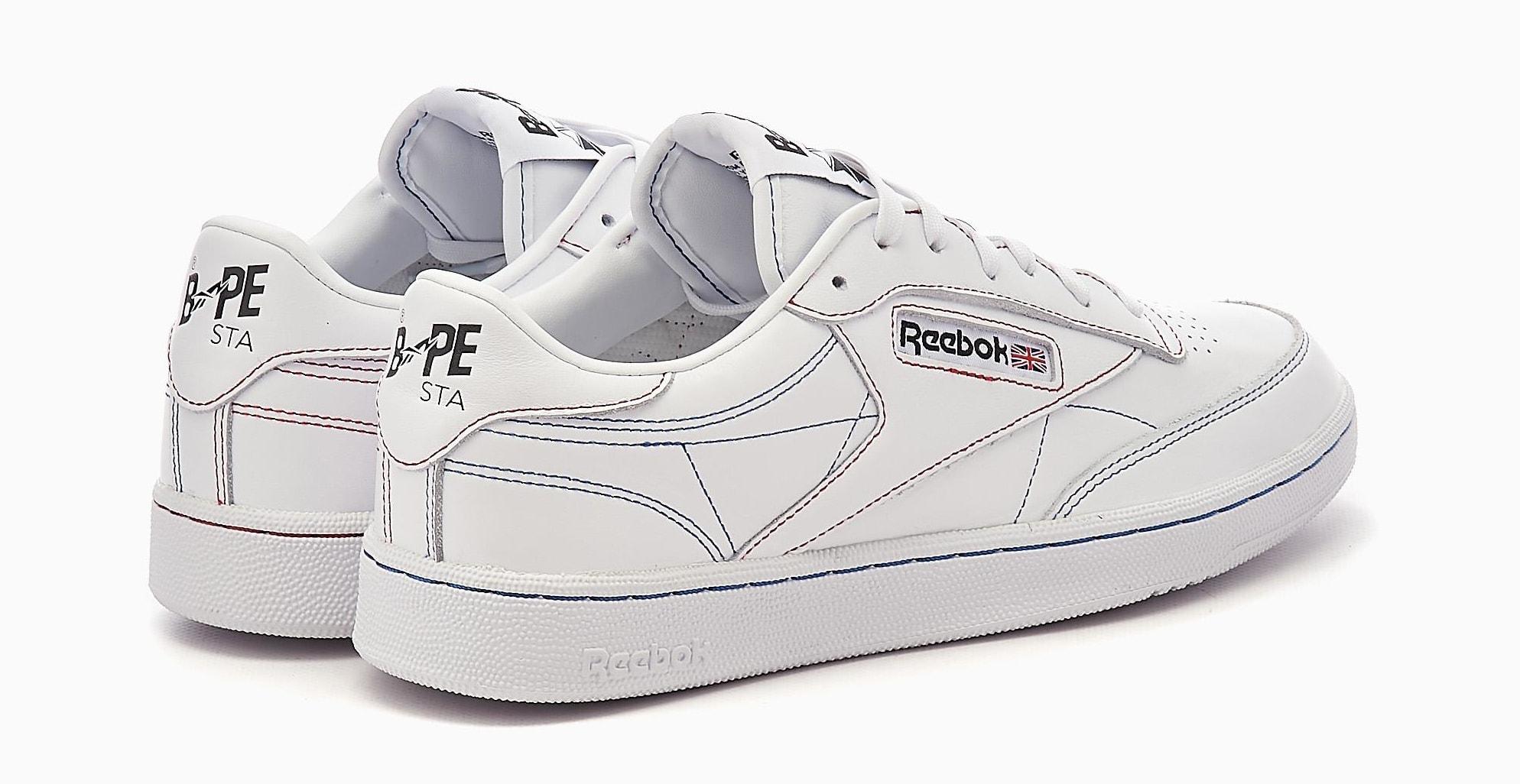 Bape x Reebok Club C Q47367 Heel