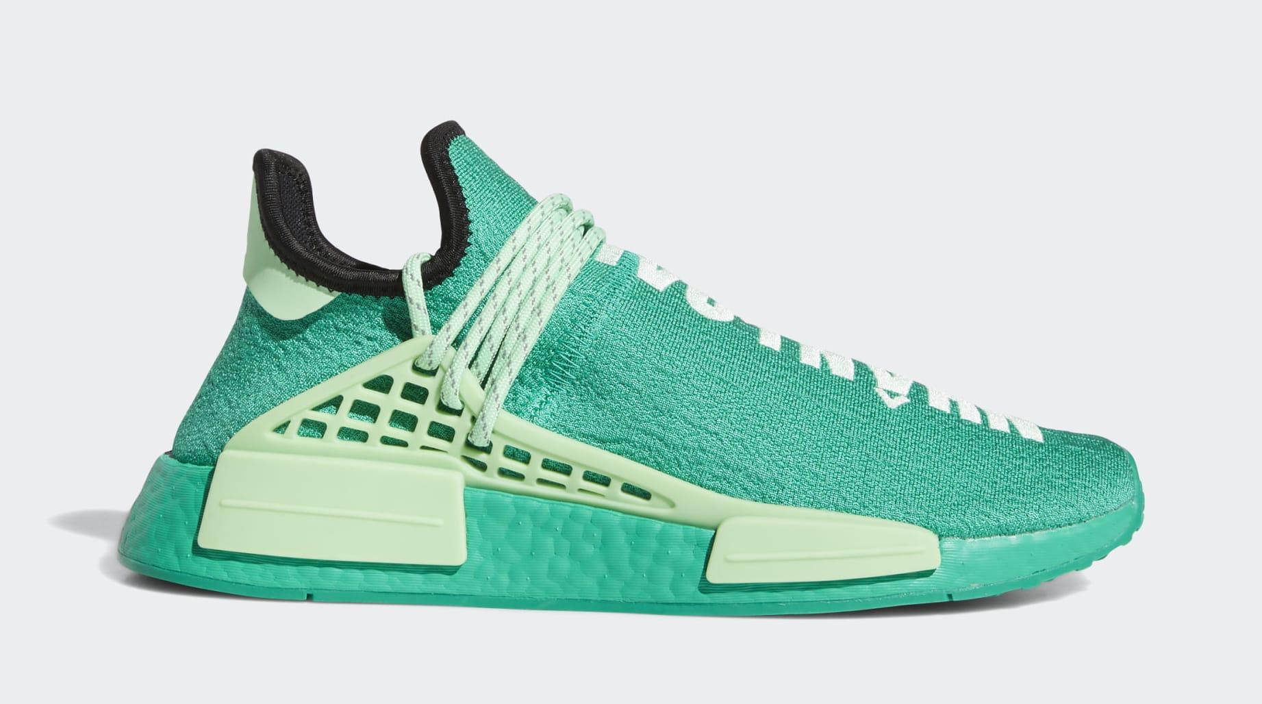 Pharrell x Adidas NMD Hu 'Green' FY0089 Side