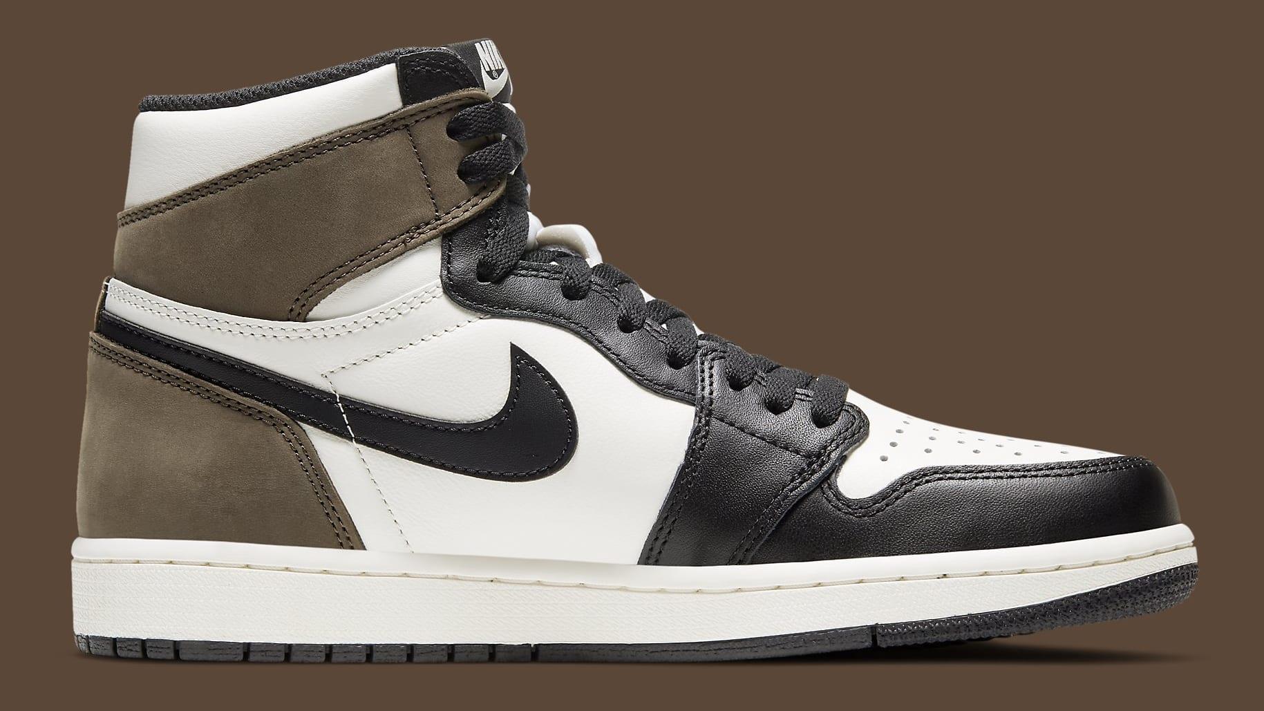 Air Jordan 1 Dark Mocha Release Date 555088-105 Medial