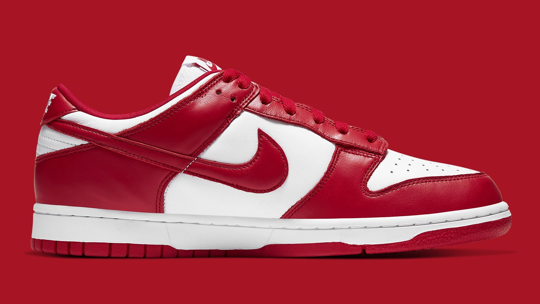 Nike Dunk Low University Red Release Date CU1727-100 Medial