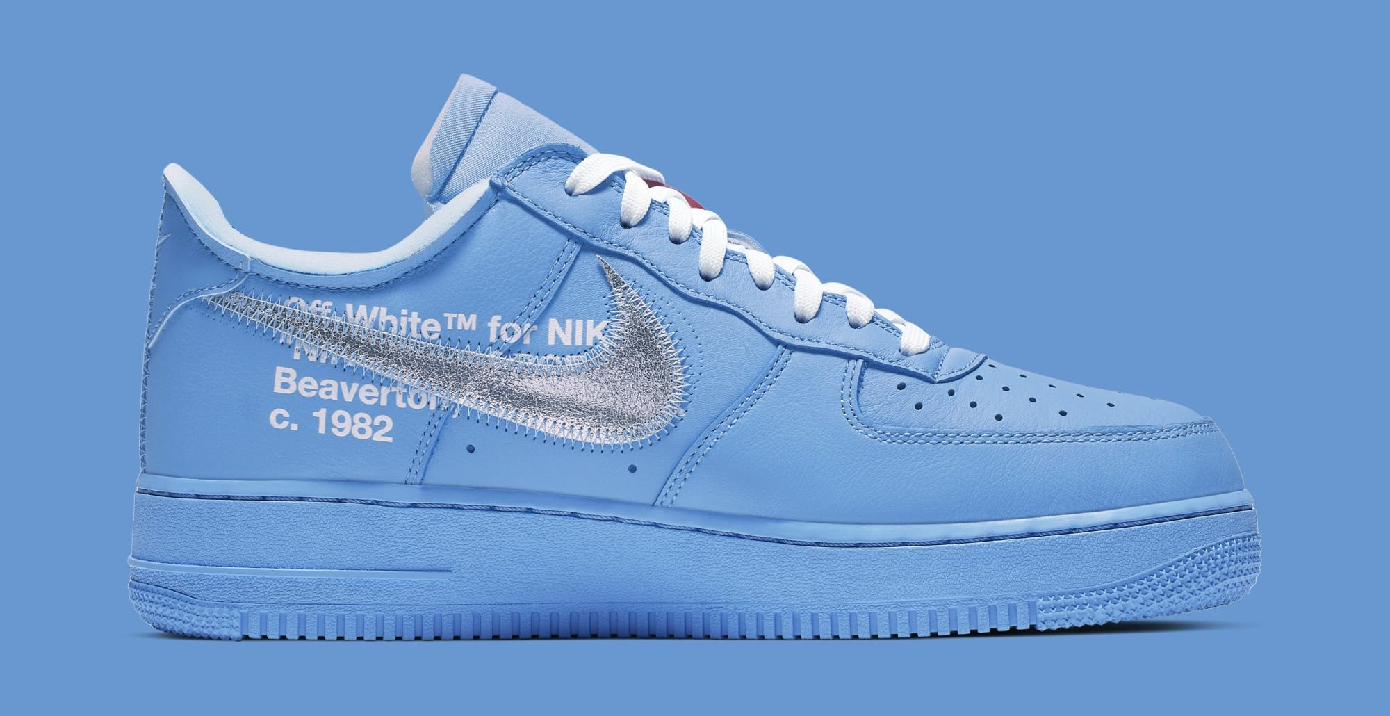 air force 1 blu x off white
