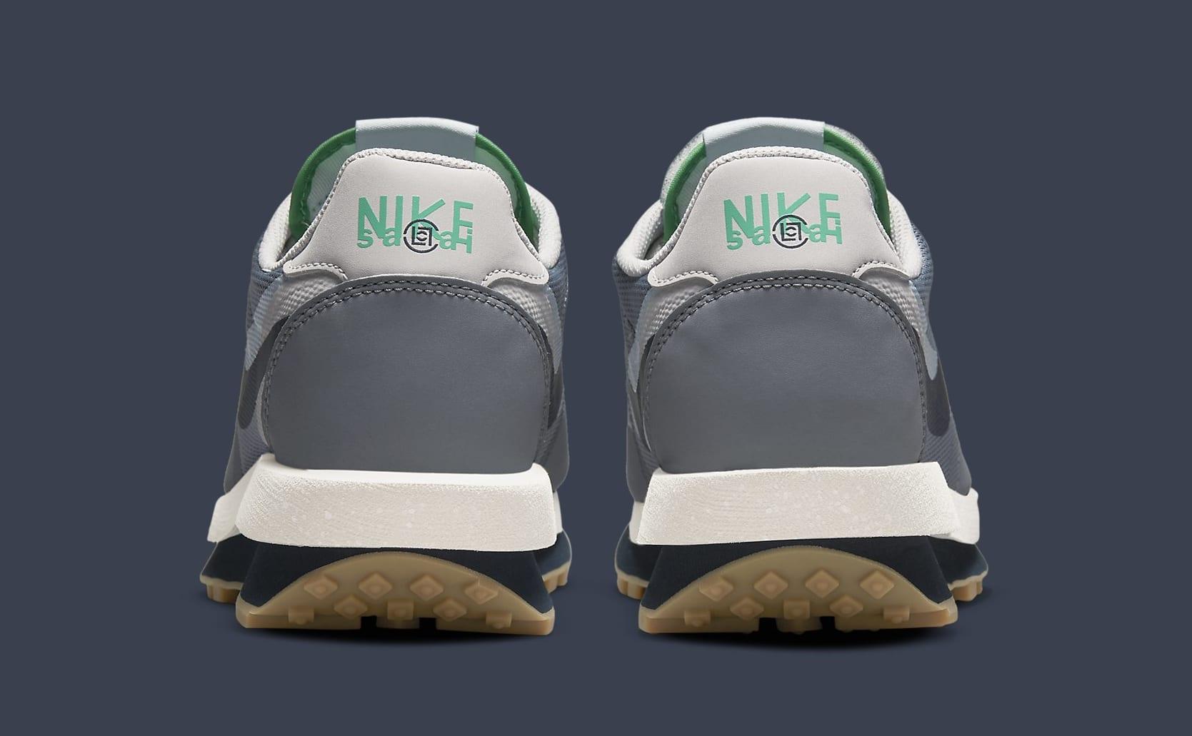 Clot x Sacai x Nike LDWaffle 'Cool Grey' DH3114-001 Heel