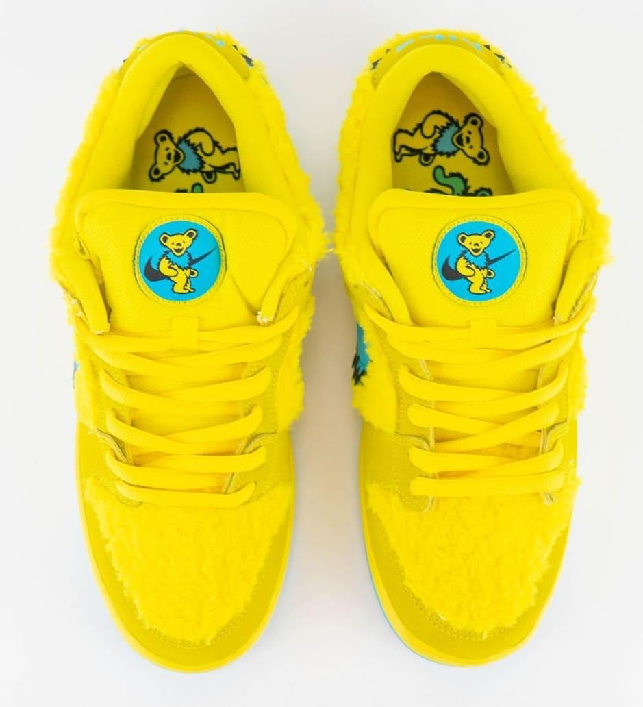 Nike SB Dunk Low Pro QS 'Grateful Dead' Opti Yellow/Blue Fury CJ5378-700 Top