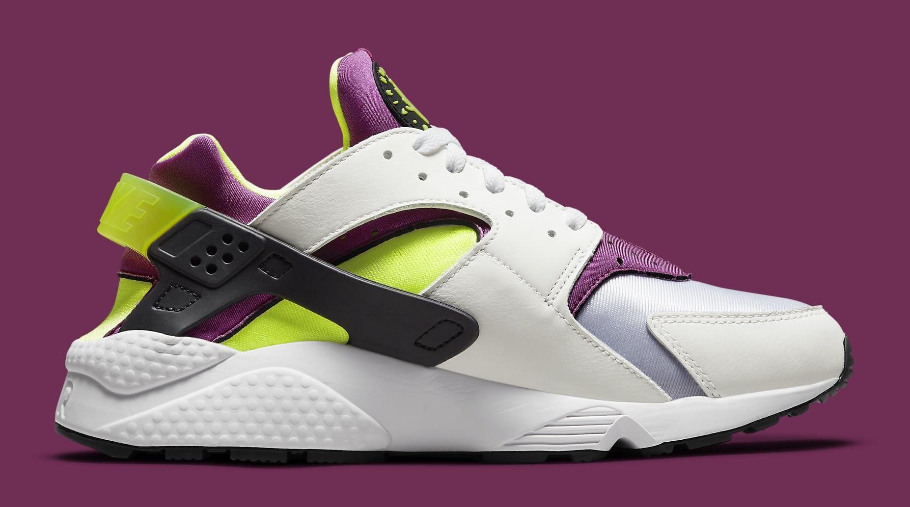 Nike Air Huarache Neon Yellow/Magenta DD1068-104 Medial