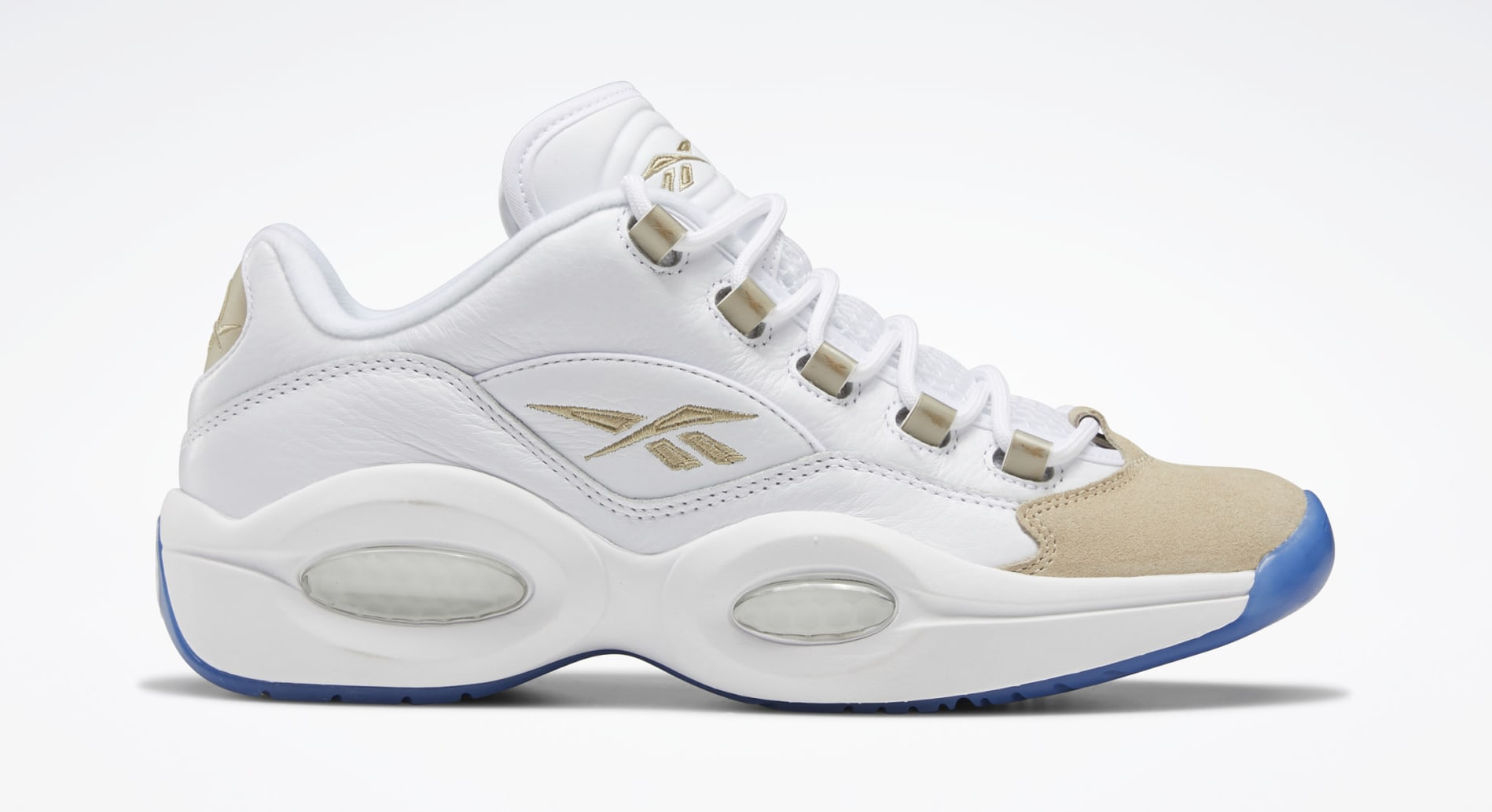 Reebok Question Low 'Oatmeal' EF7609 Lateral