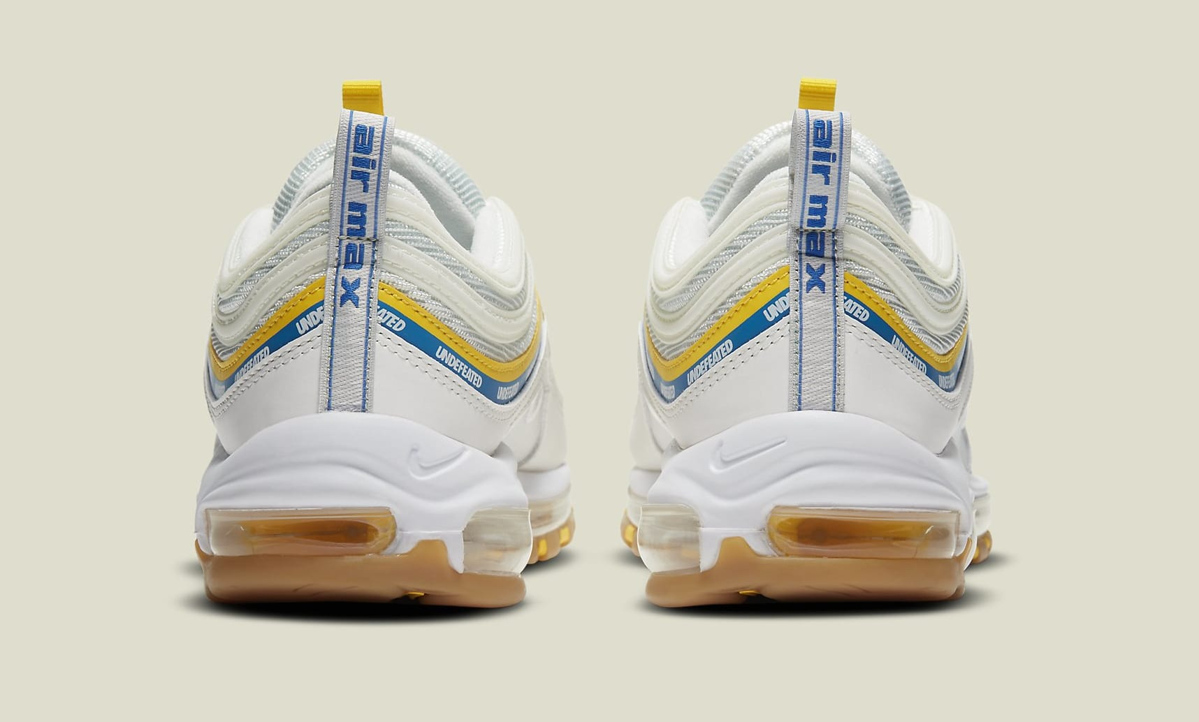 Undefeated x Nike Air Max 97 'Sail' DC4830-100 Heel