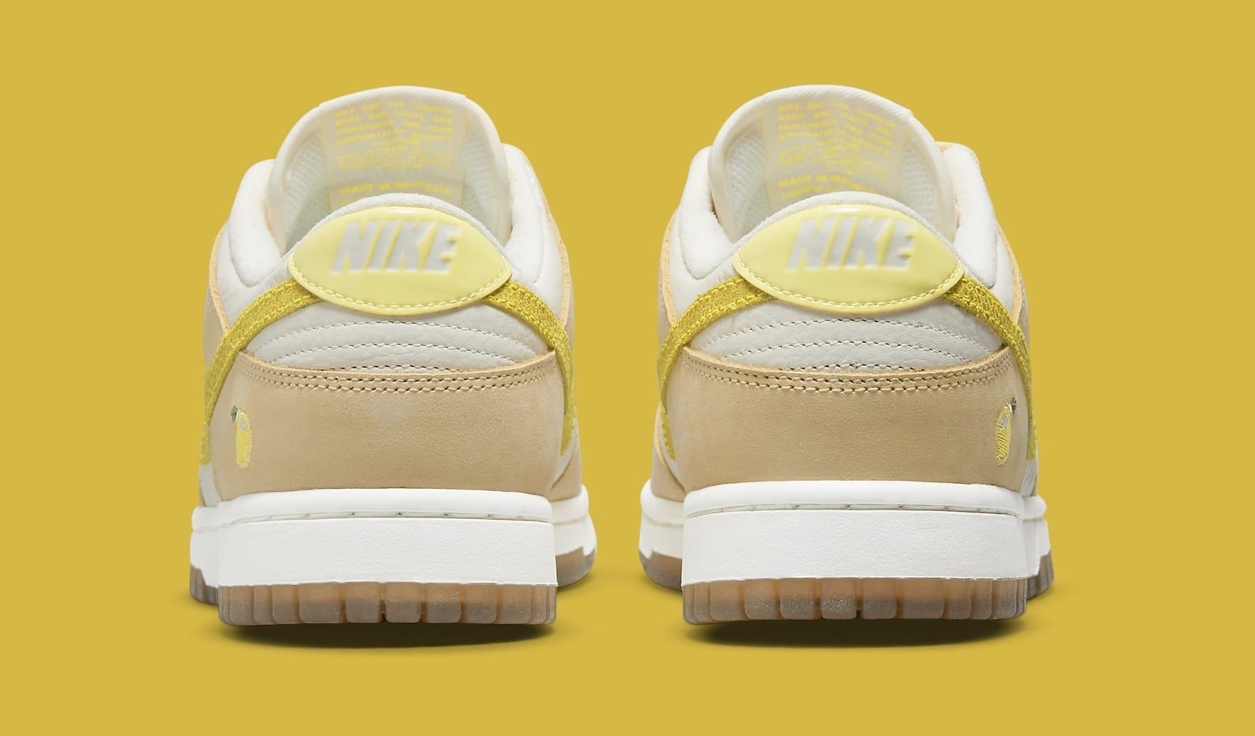 Nike Dunk Low 'Lemon Drop' DJ6902-700 Heel