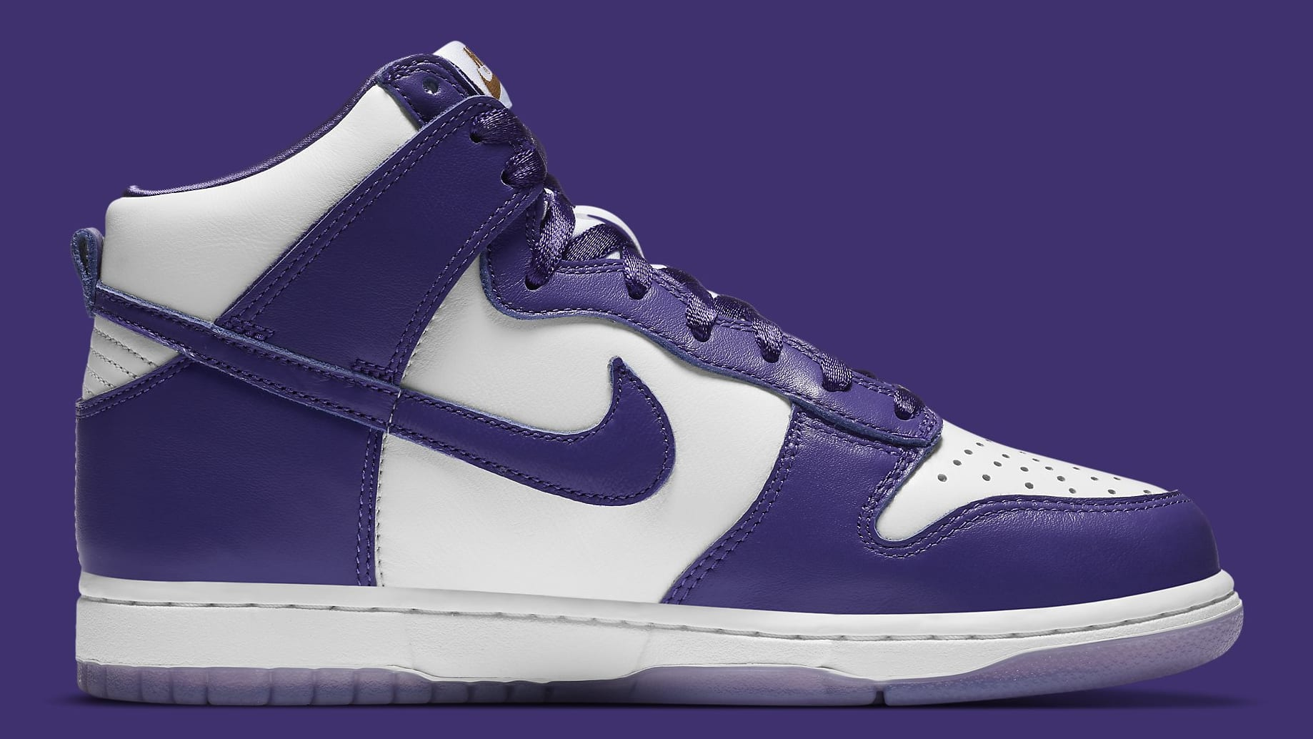 Nike Dunk High Women's Court Purple Release Date DC5382-100 Medial