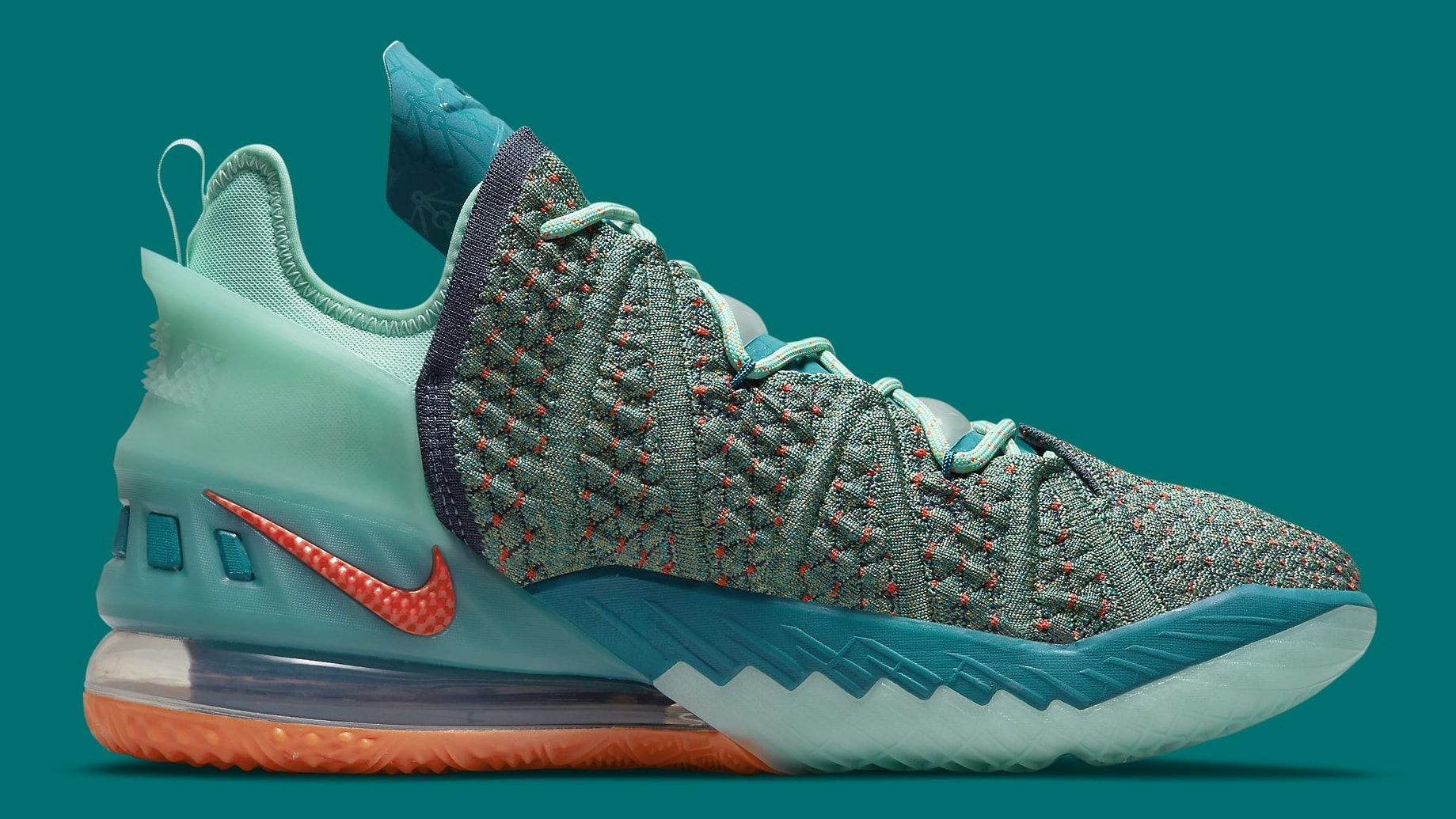 Nike LeBron 18 We Are Family Release Date CQ9283-300 Medial