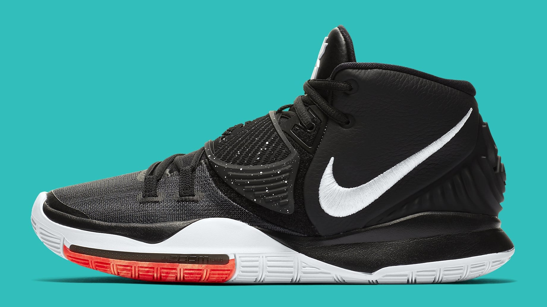 Nike Kyrie 6 Black White Release Date BQ4630-001 Medial