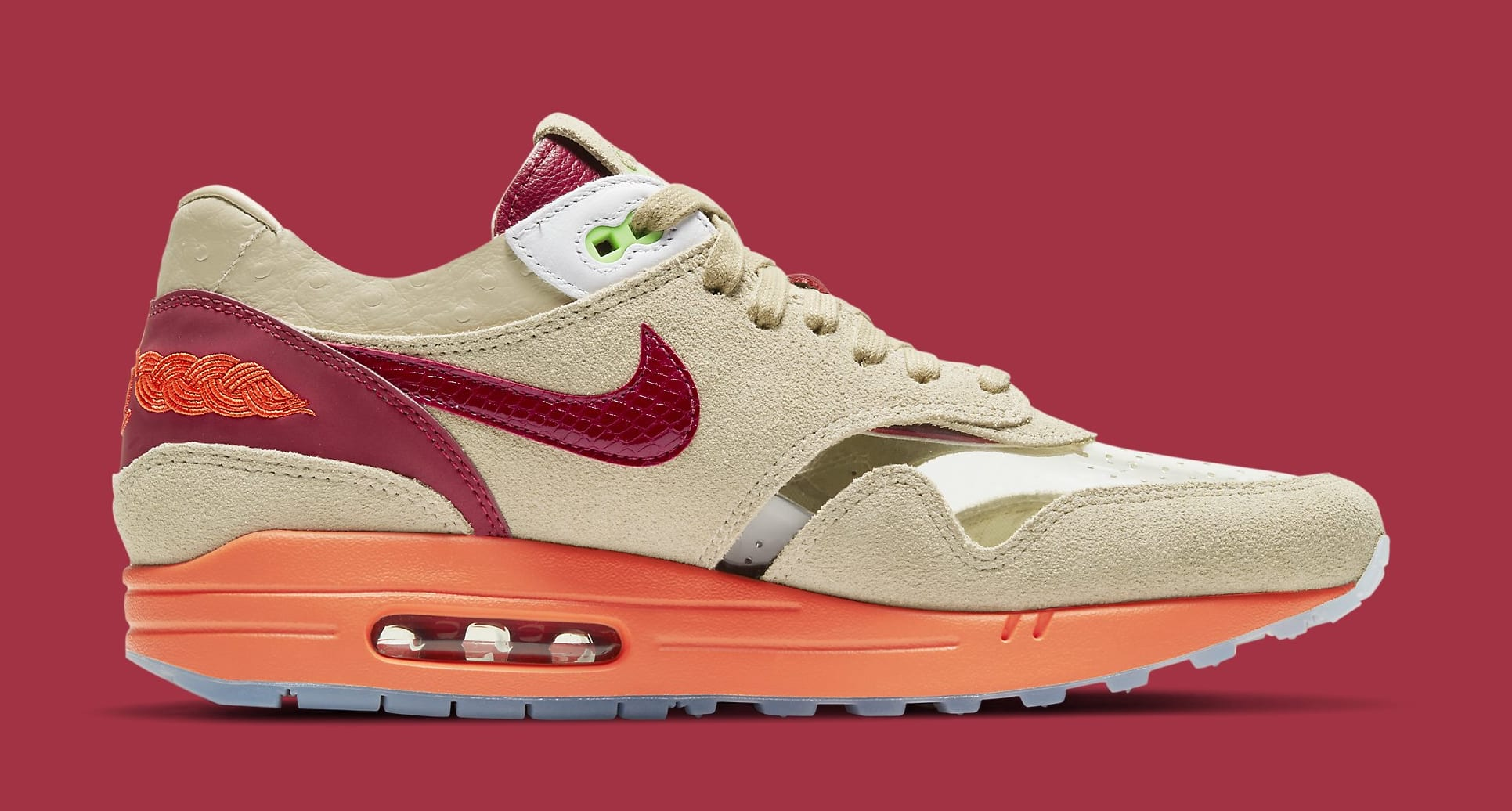 Clot x Nike Air Max 1 'Kiss of Death' 2021 DD1870-100 Medial