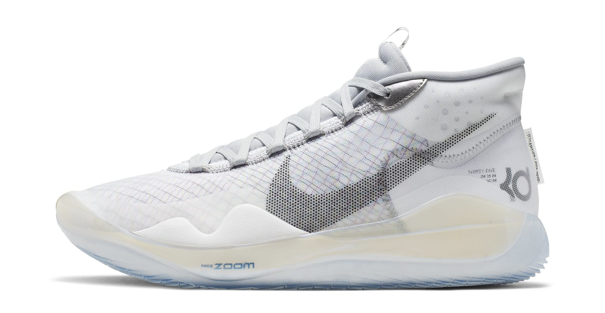 Nike KD 12 NRG 'White/Black/Wolf Grey' CK1197-101 (Lateral)