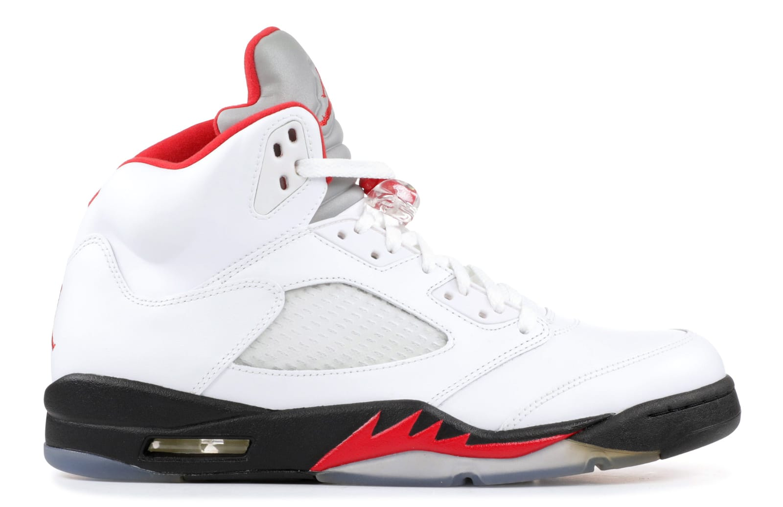 Air Jordan 5 'White/Fire Red/Black'