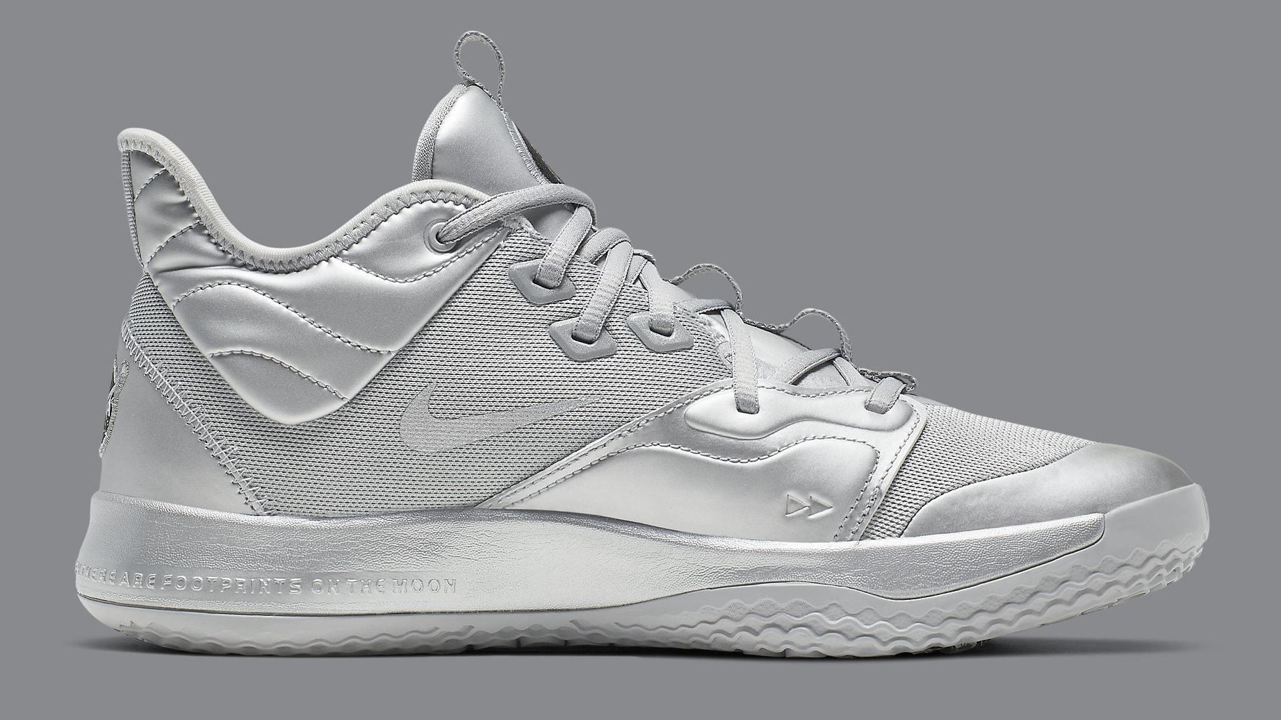 Nike PG 3 NASA Silver Release Date CI2666-001 Medial