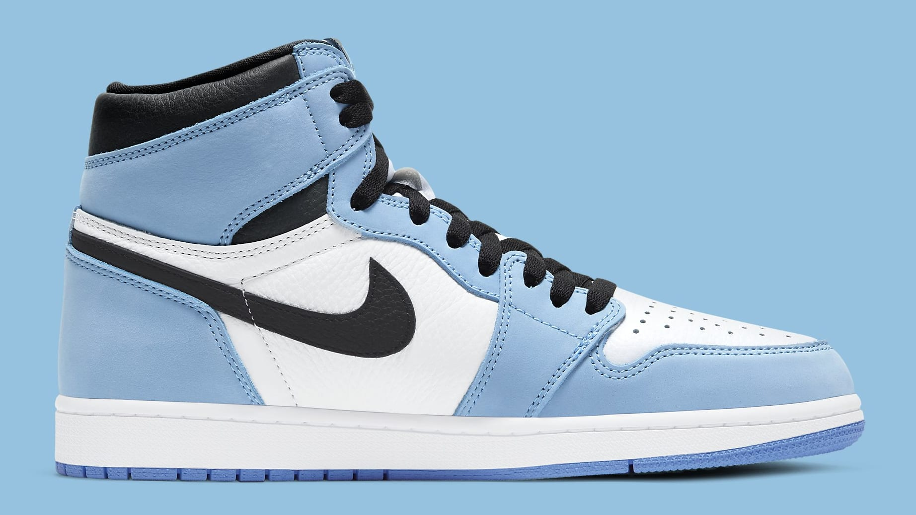 Air Jordan 1 University Blue Release Date 555088-134 Medial