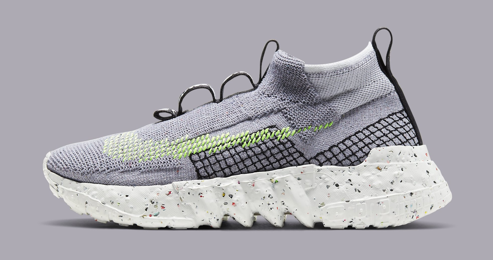 Nike Space Hippie 02 'Grey/Volt' CQ3988-002 Lateral