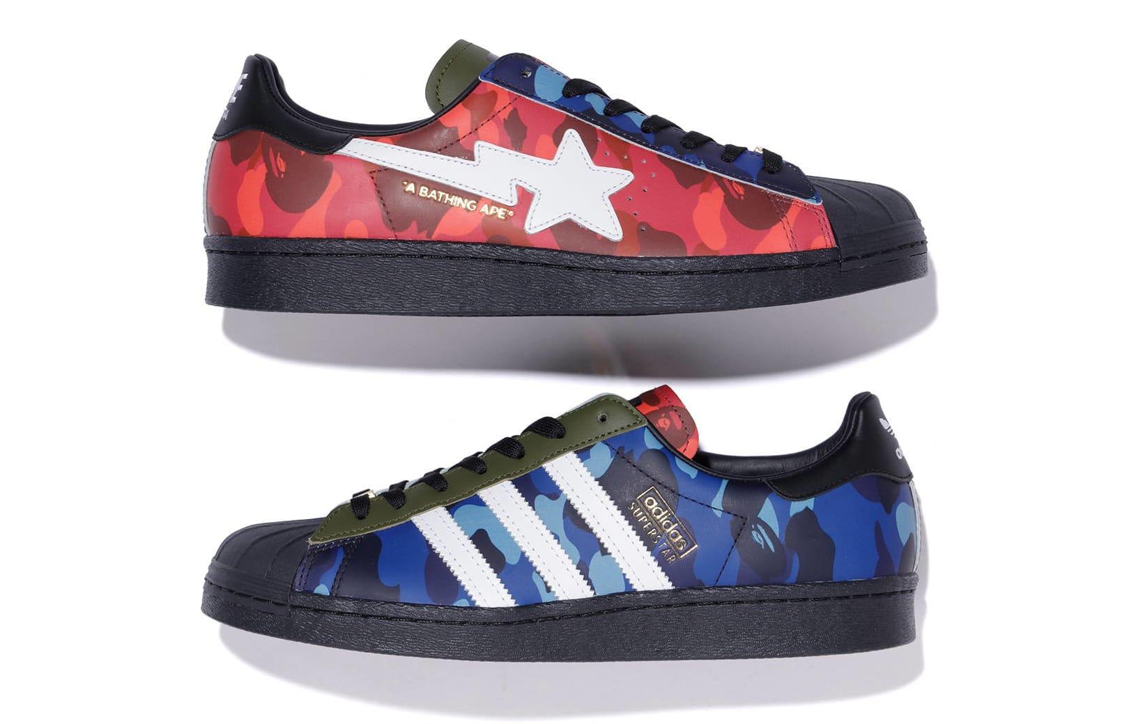 Bape x Adidas Originals Superstar 'Color Camo' Lateral