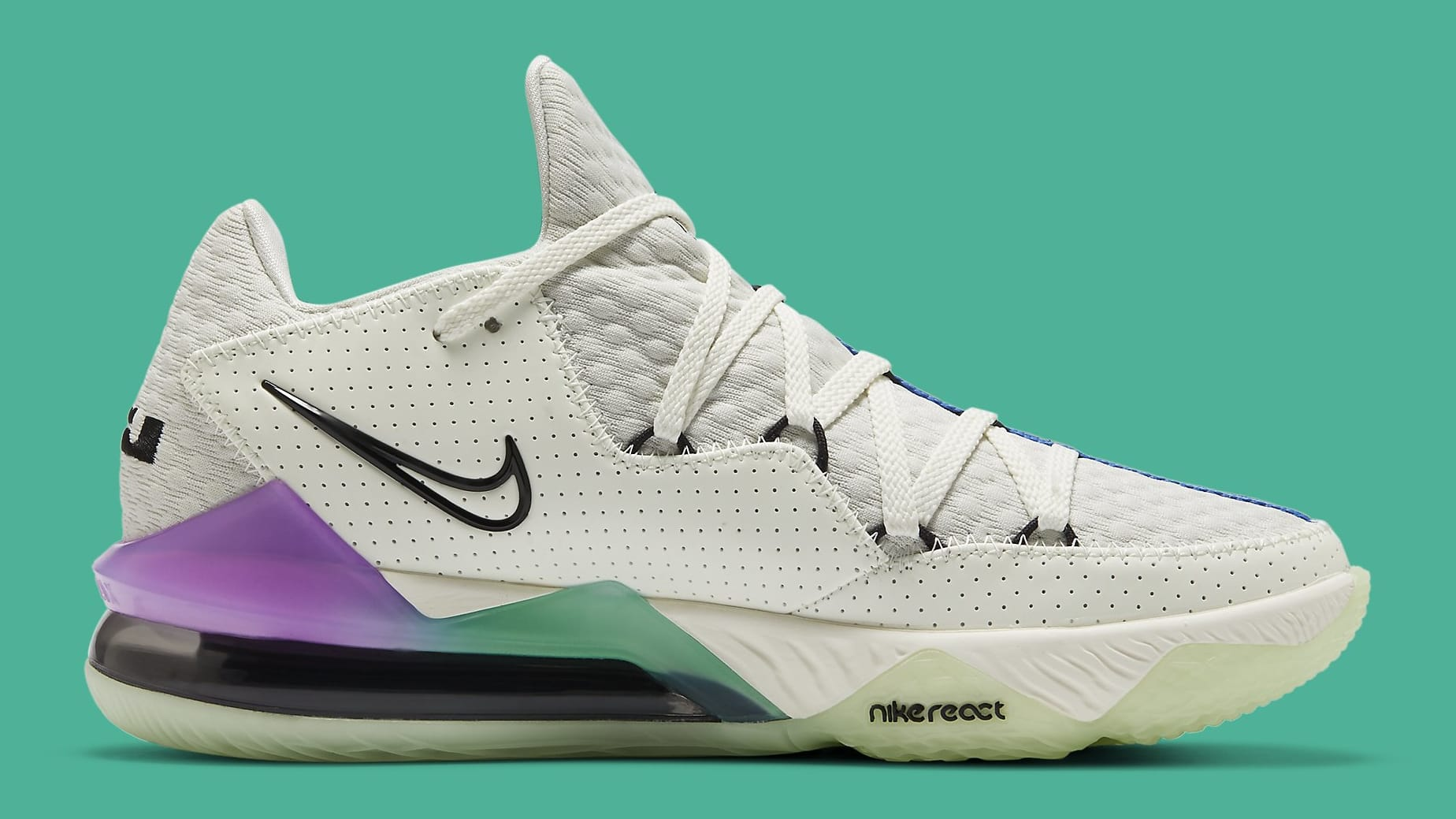 Nike LeBron 17 Low Glow in the Dark Release Date CD5007-005 Medial