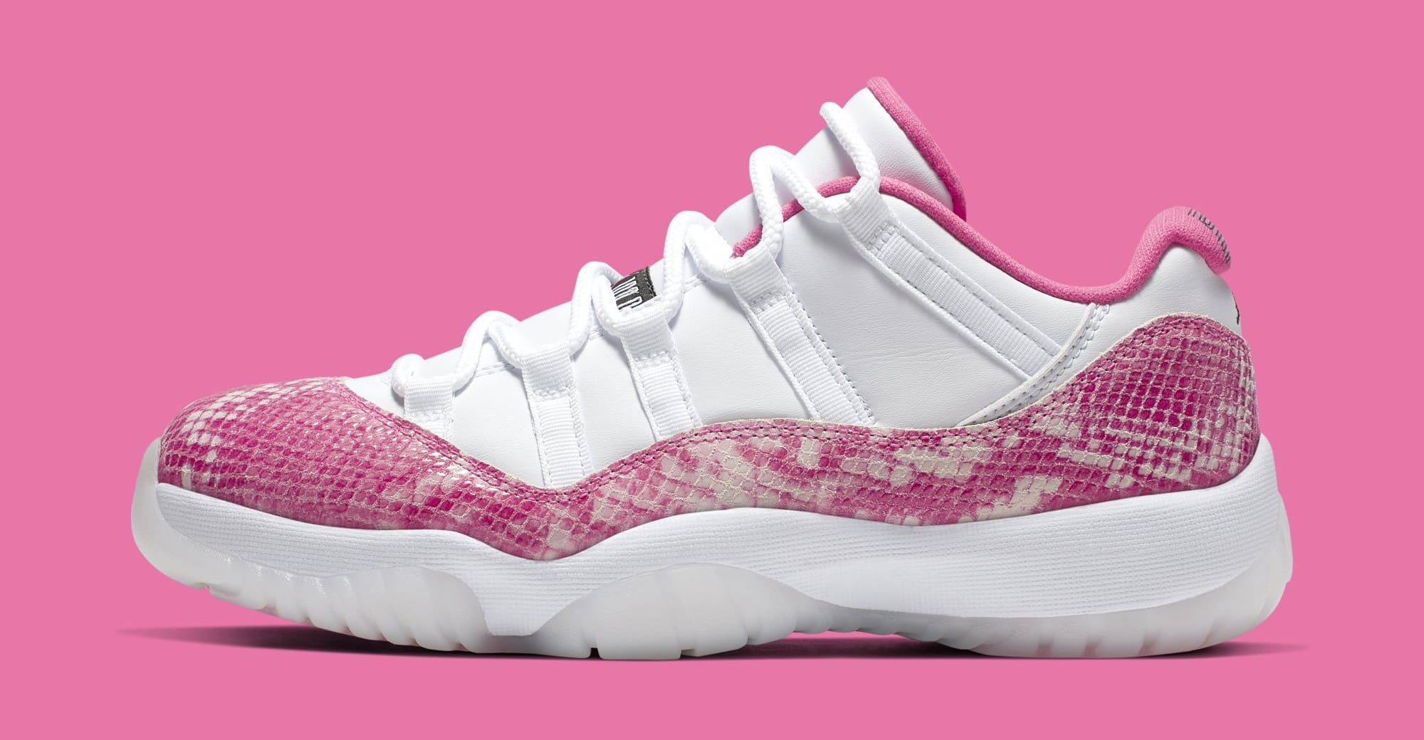 newest 68963 11665 Air Jordan 11 Low  Pink Snakeskin  AH7860-106 (Lateral)