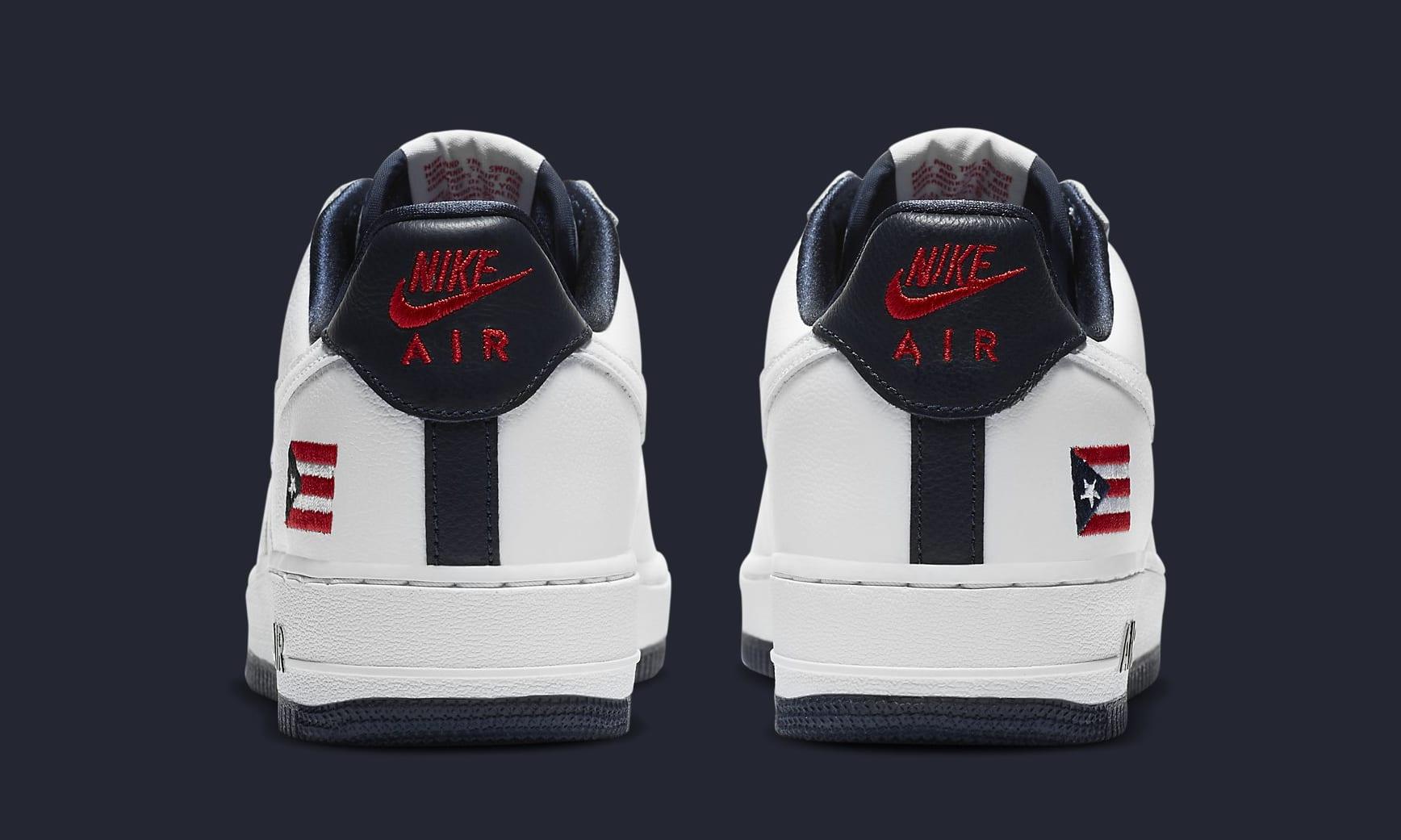 Nike Air Force 1 Low 'Puerto Rico' 2020 CJ1386-100 Heel
