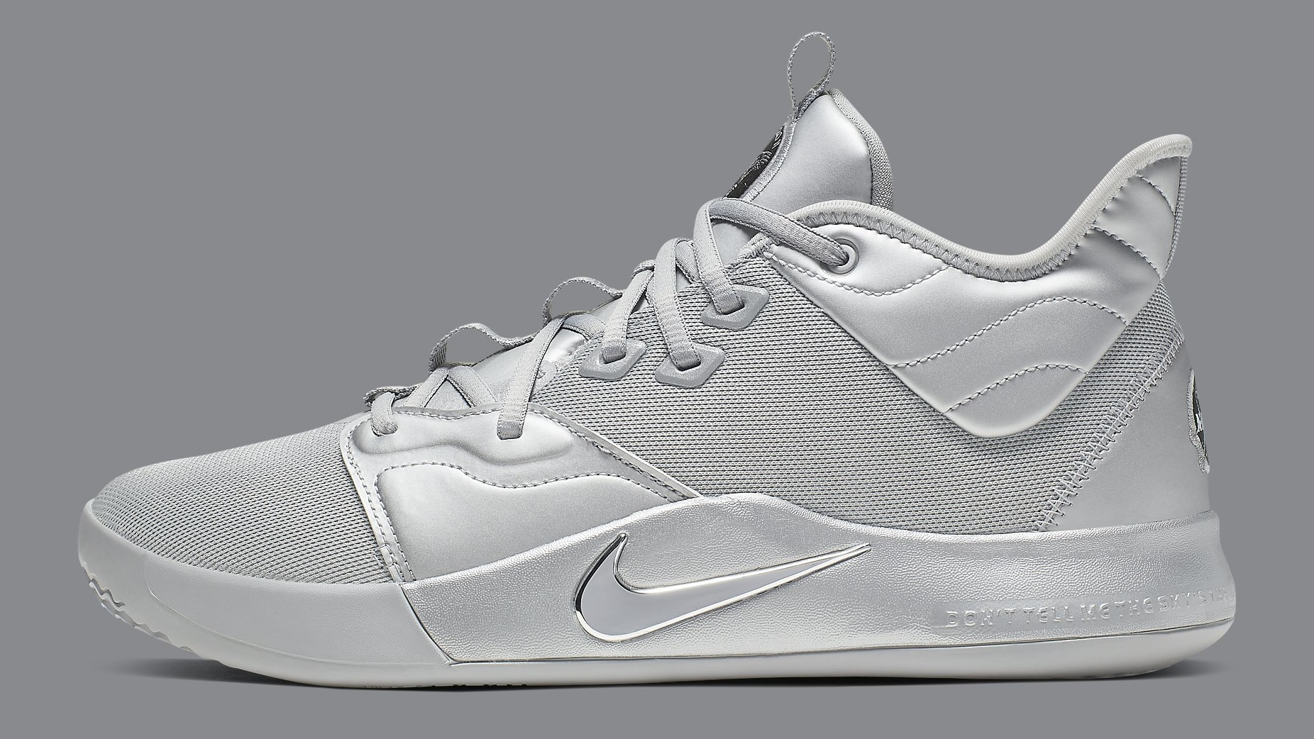 9c3c375ea85 NASA x Nike PG 3 Coming In Full Silver Reflective Colorway: Official ...