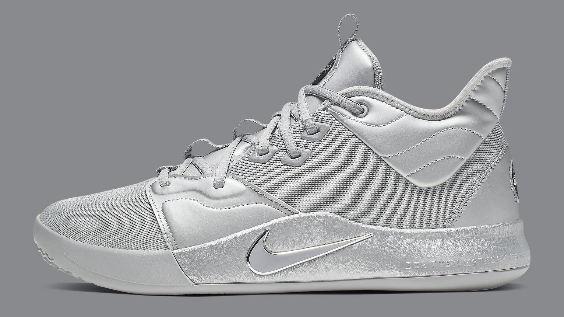 Nike PG 3 NASA Silver Release Date CI2666-001 Profile